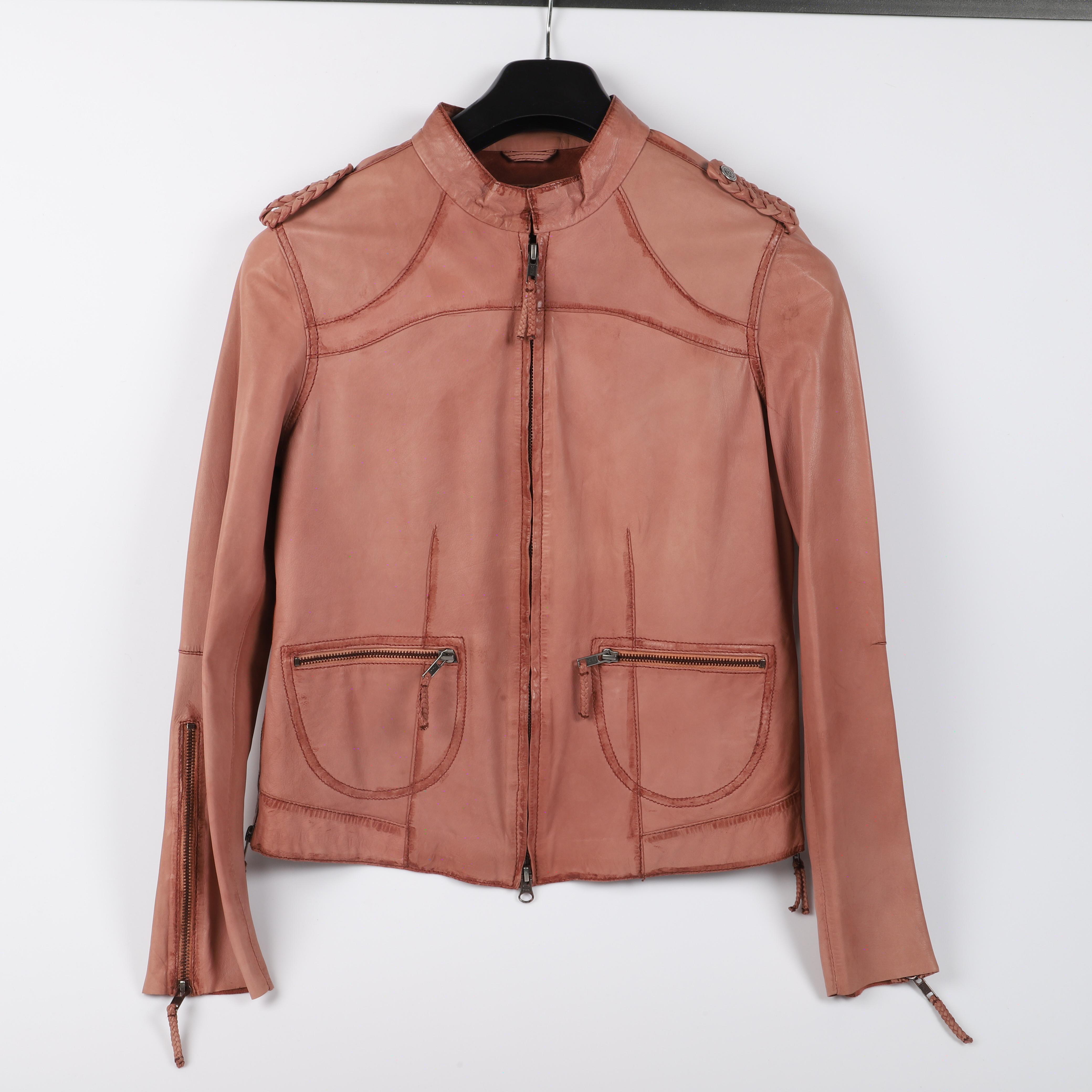 JACKA, rosa skinn, Sixty Days. Vintagekläder & Accessoarer