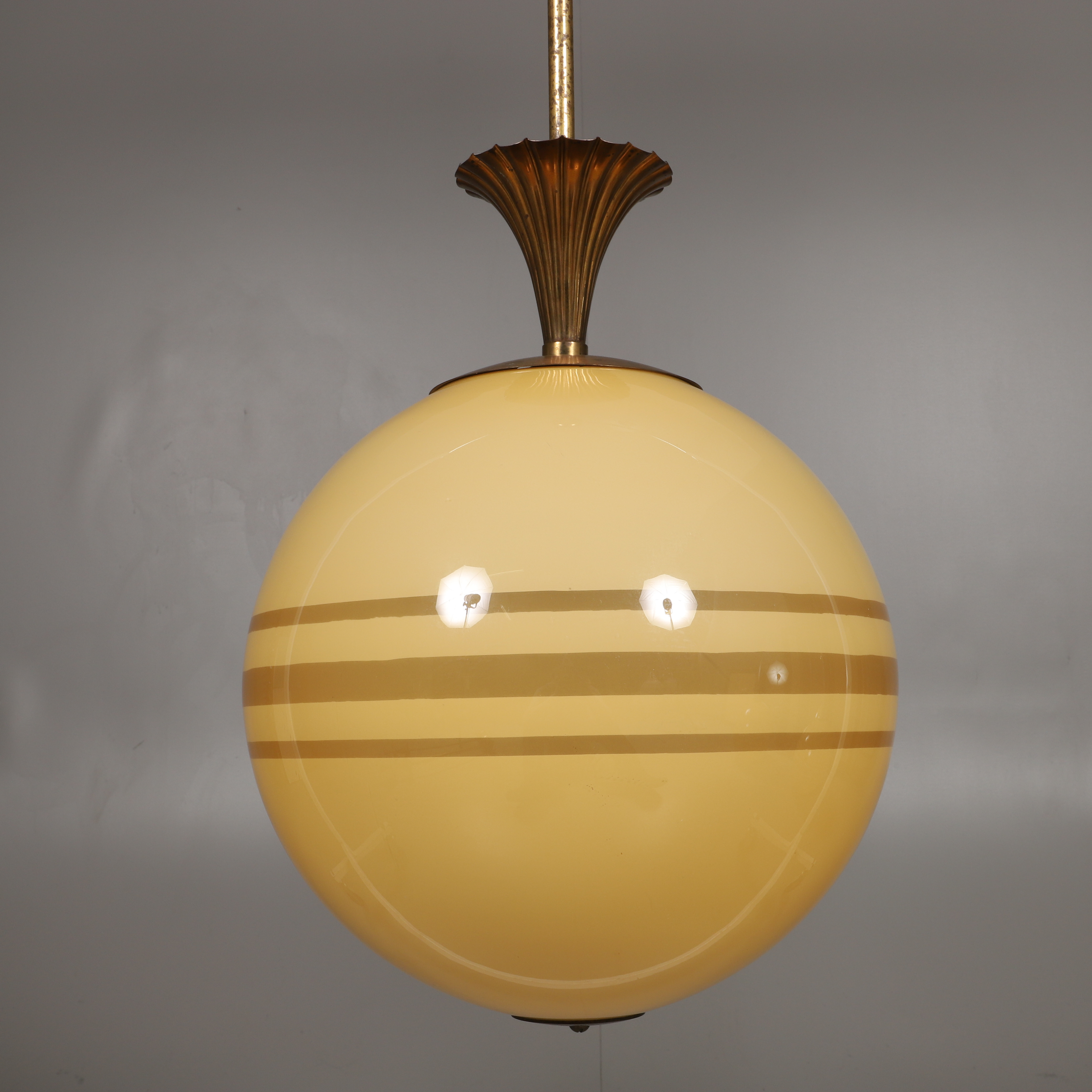 Ceiling Lamp Globe Model Stained Glass Brass The First Half Of The 20th Century Lighting Lamps Ceiling Lights Auctionet