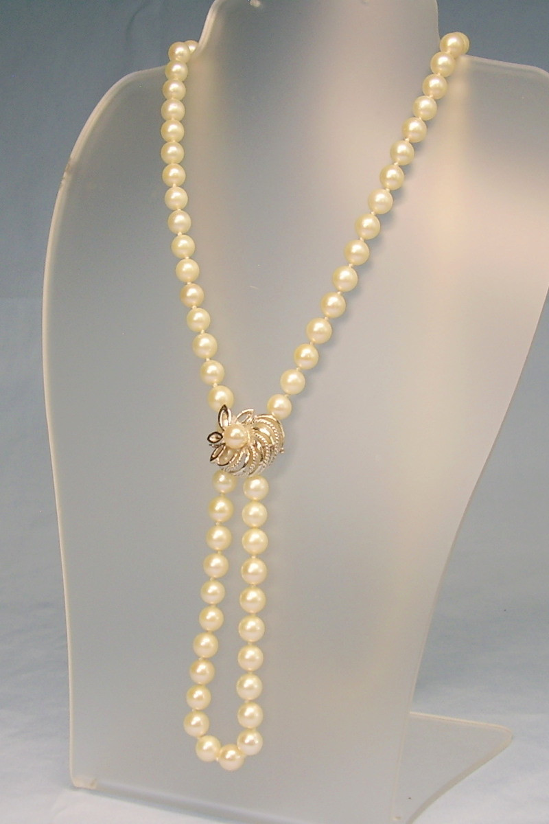 Pink Jade and Pink Akoya Pearl Necklace