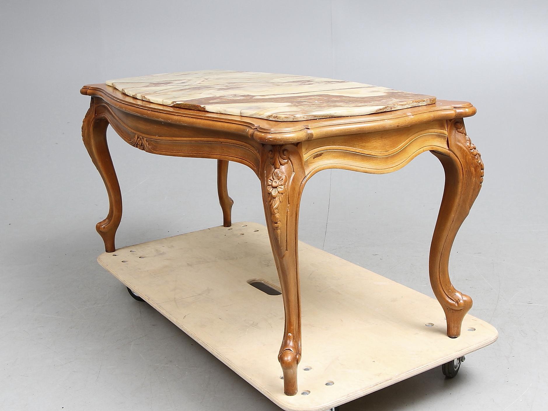 Images for 150706 SOFFBORD med stenskiva, rokokostil, 1900 tal Auctionet