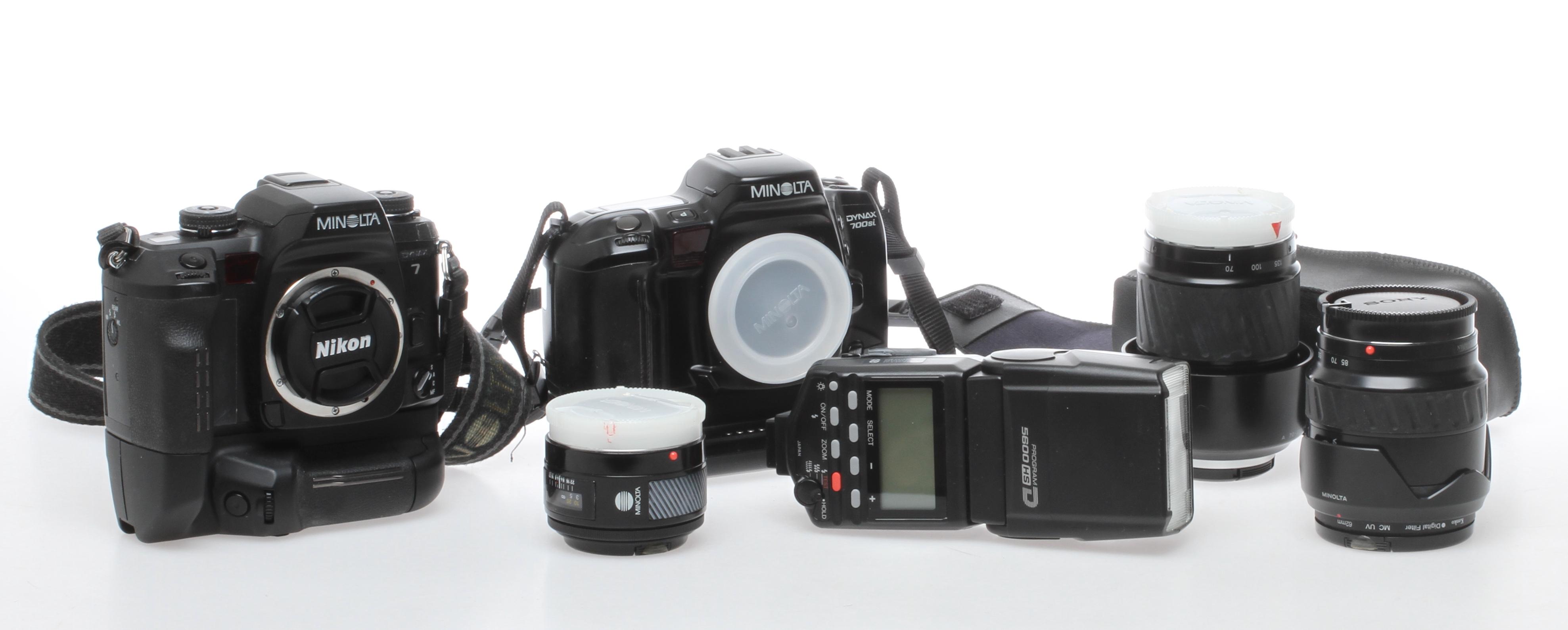 KAMEROR 2 St Dynax 7 Och 700si Photo Cameras Lenses