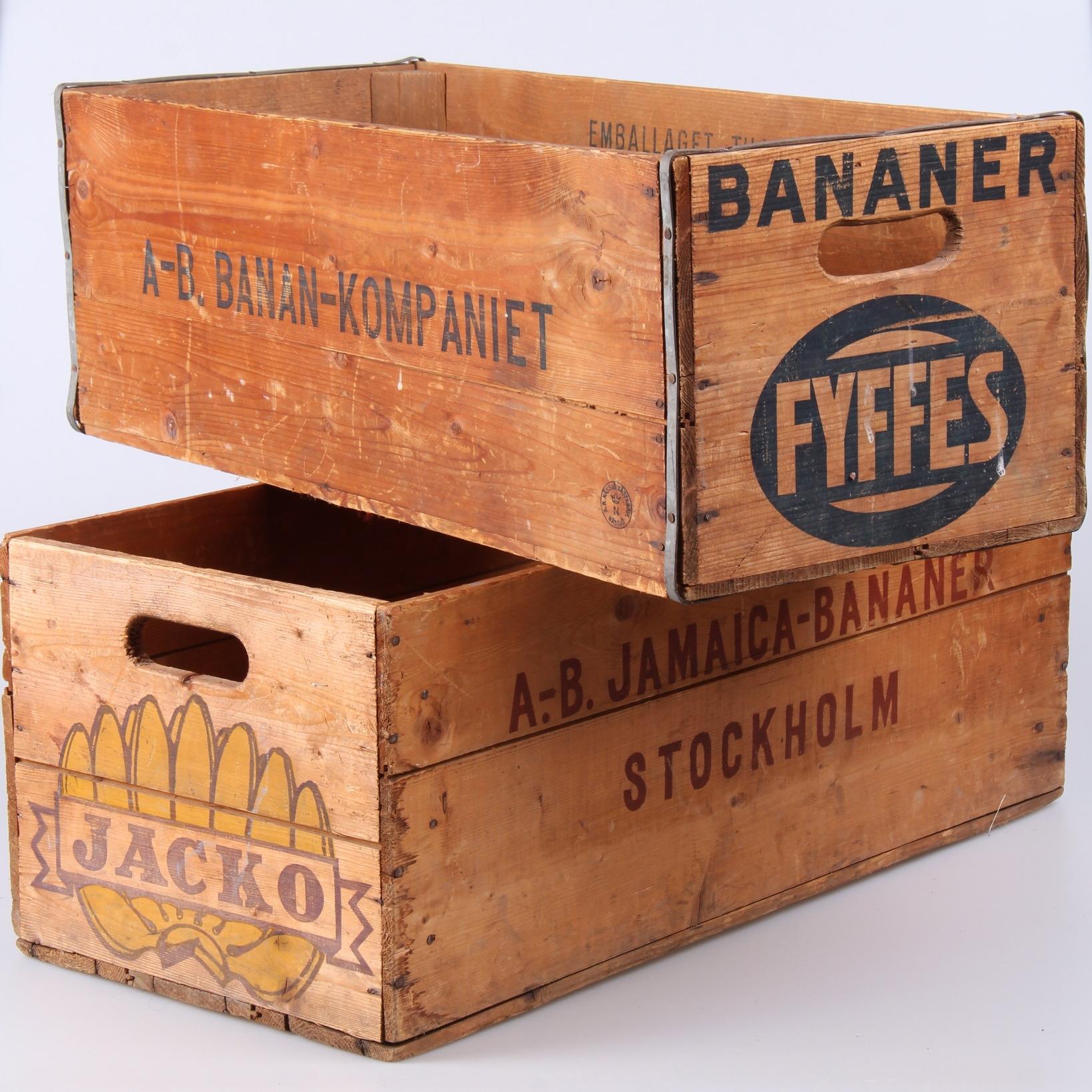 Bilder för 185146. TRÄLÅDOR, 2 st. bananlådor, Jacko och