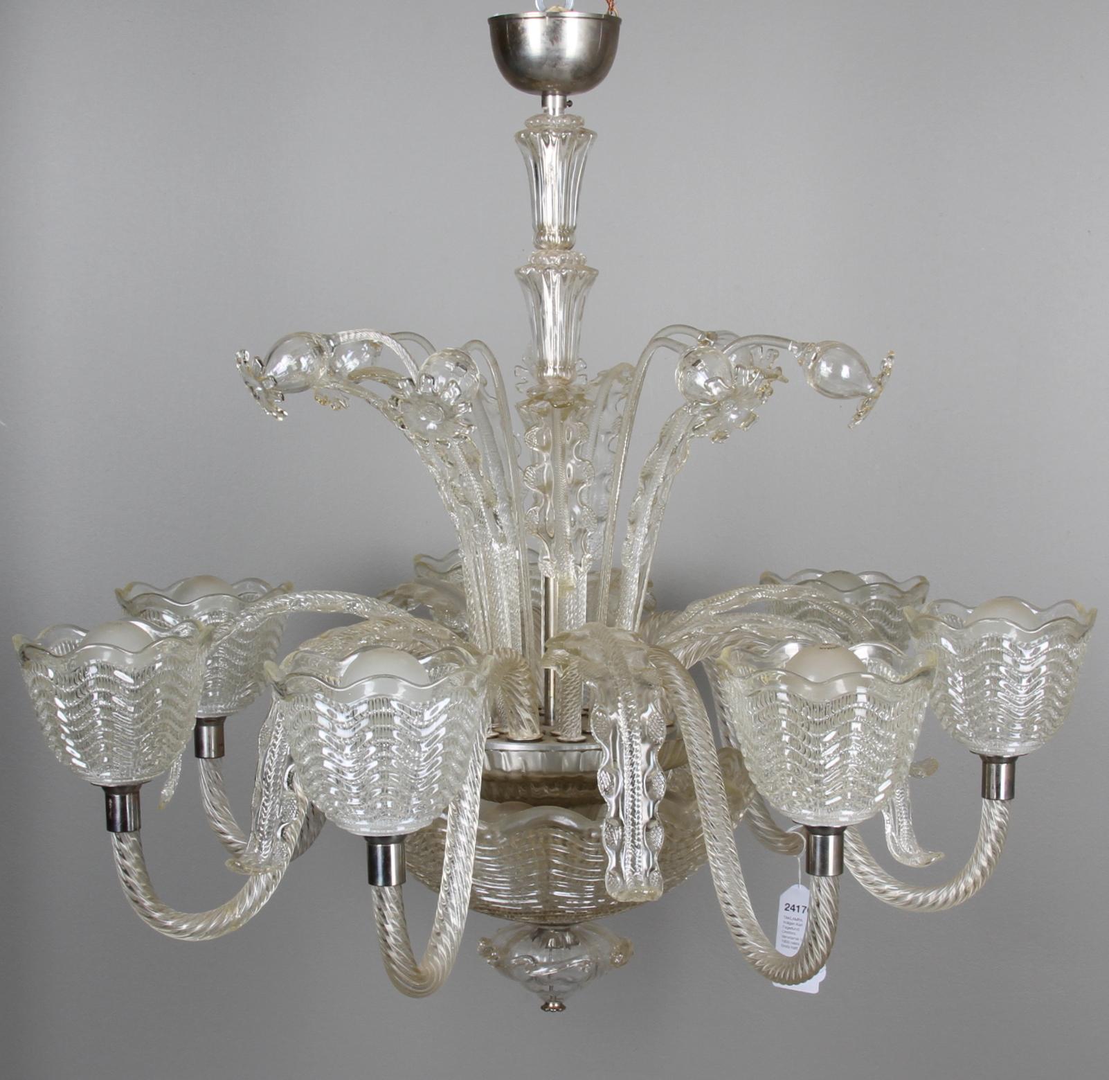 Golvlampa Carl Fagerlund - Bilder för 24170 TAKLAMPA, troligen Carl Fagerlund, Orrefors Venetiansk typ 1900 talets