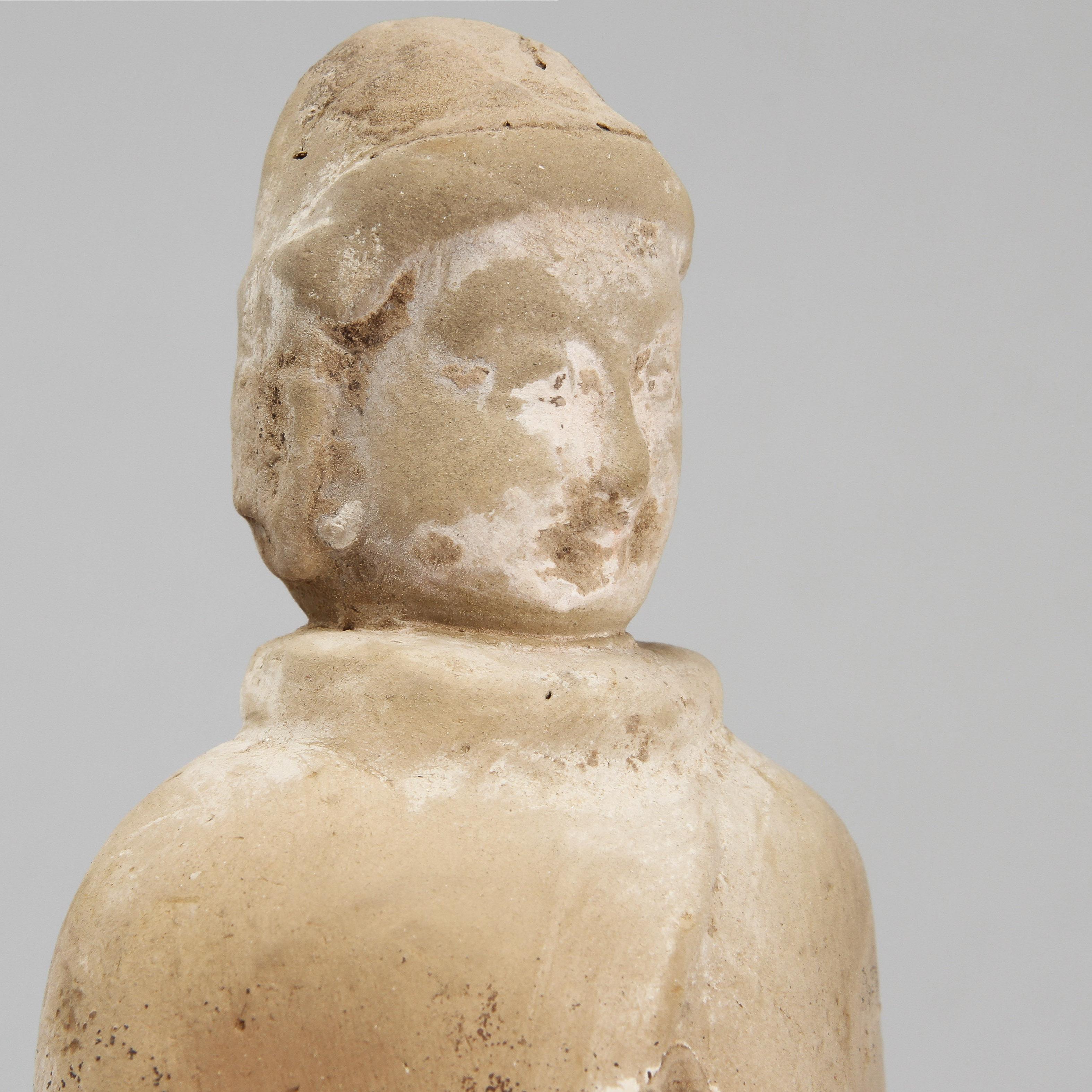 Figur Lergods Kina Sannolikt Wei Ceramics Porcelain