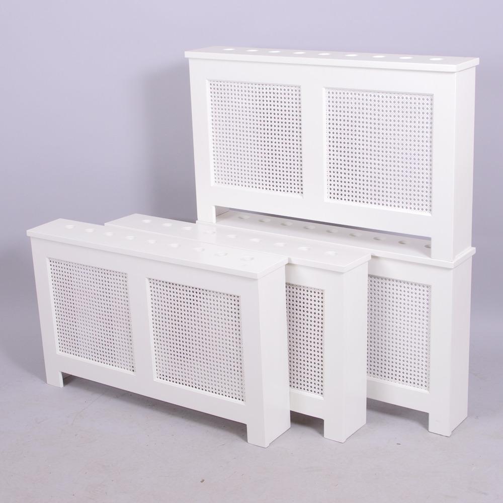 Inredning elementskydd : ELEMENTSKYDD, 4 stycken, vitmålade med nätfront. Möbler - Övrigt ...