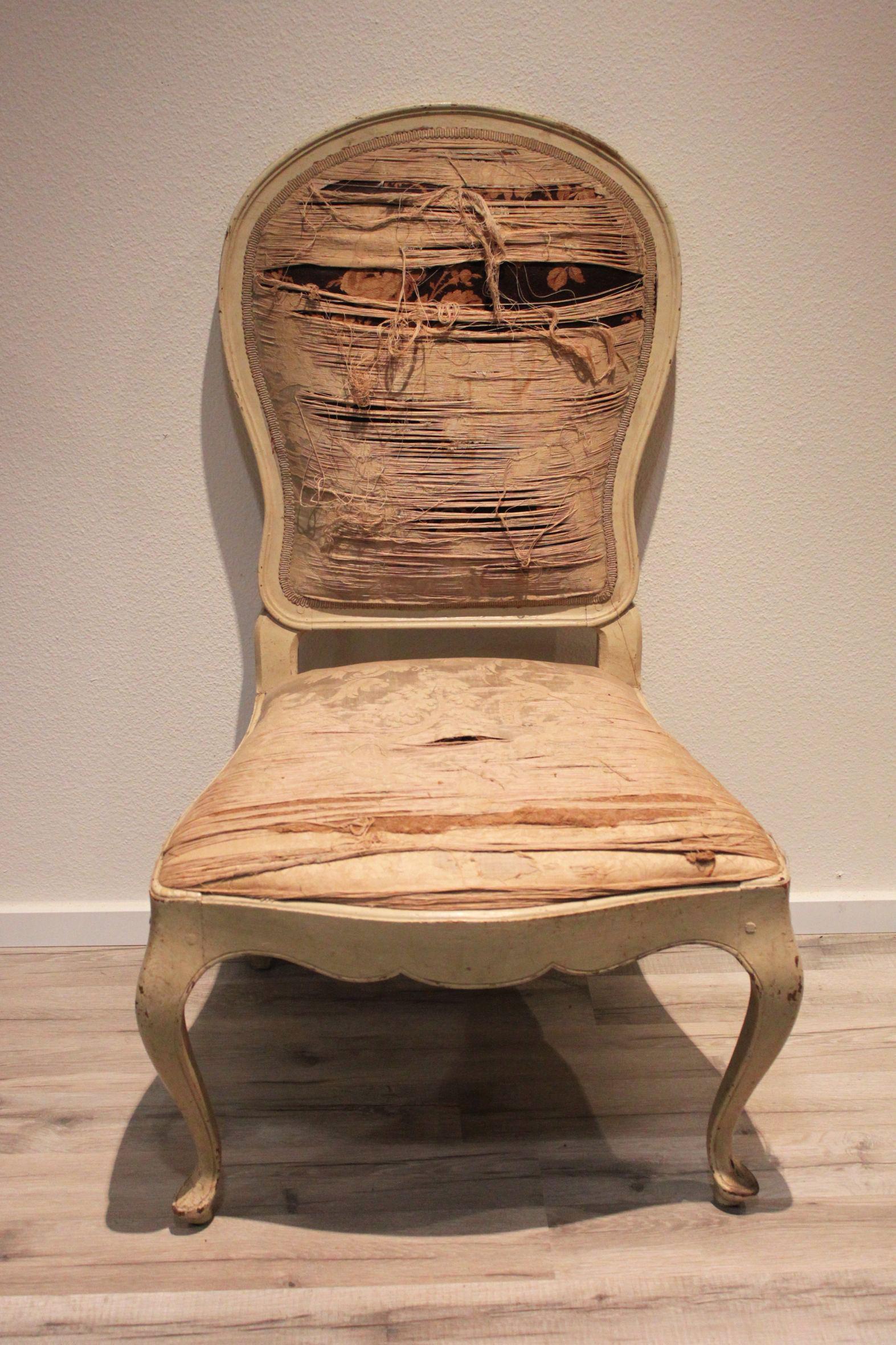 Louis Quinze Stuhl Holz Weiß Gefaßt Möbel Sessel Stühle