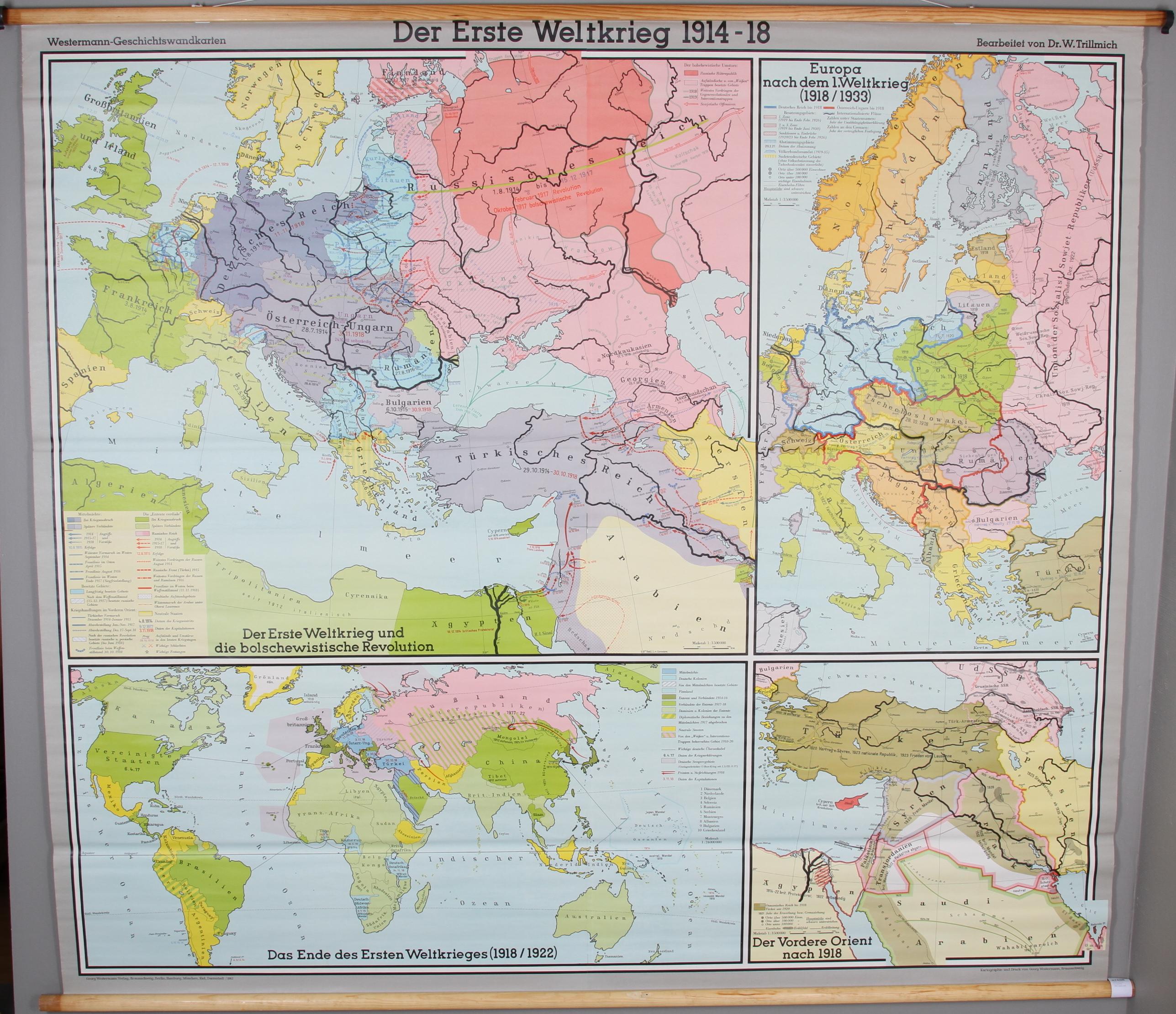 Karta Europa Andra Varldskriget.Skolkarta Nordstedts 1900 Talets Mitt Art Graphic Auctionet