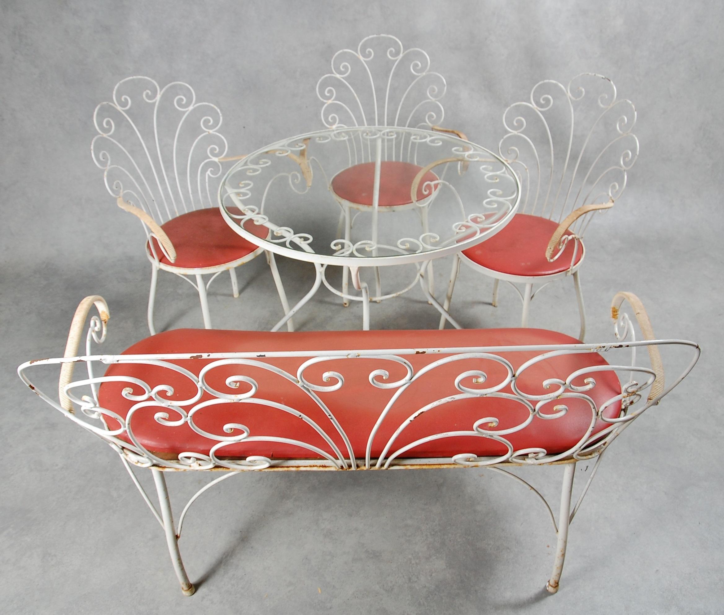 Tradgardsmobler 5 Delar Smide 1950 Tal Furniture Garden