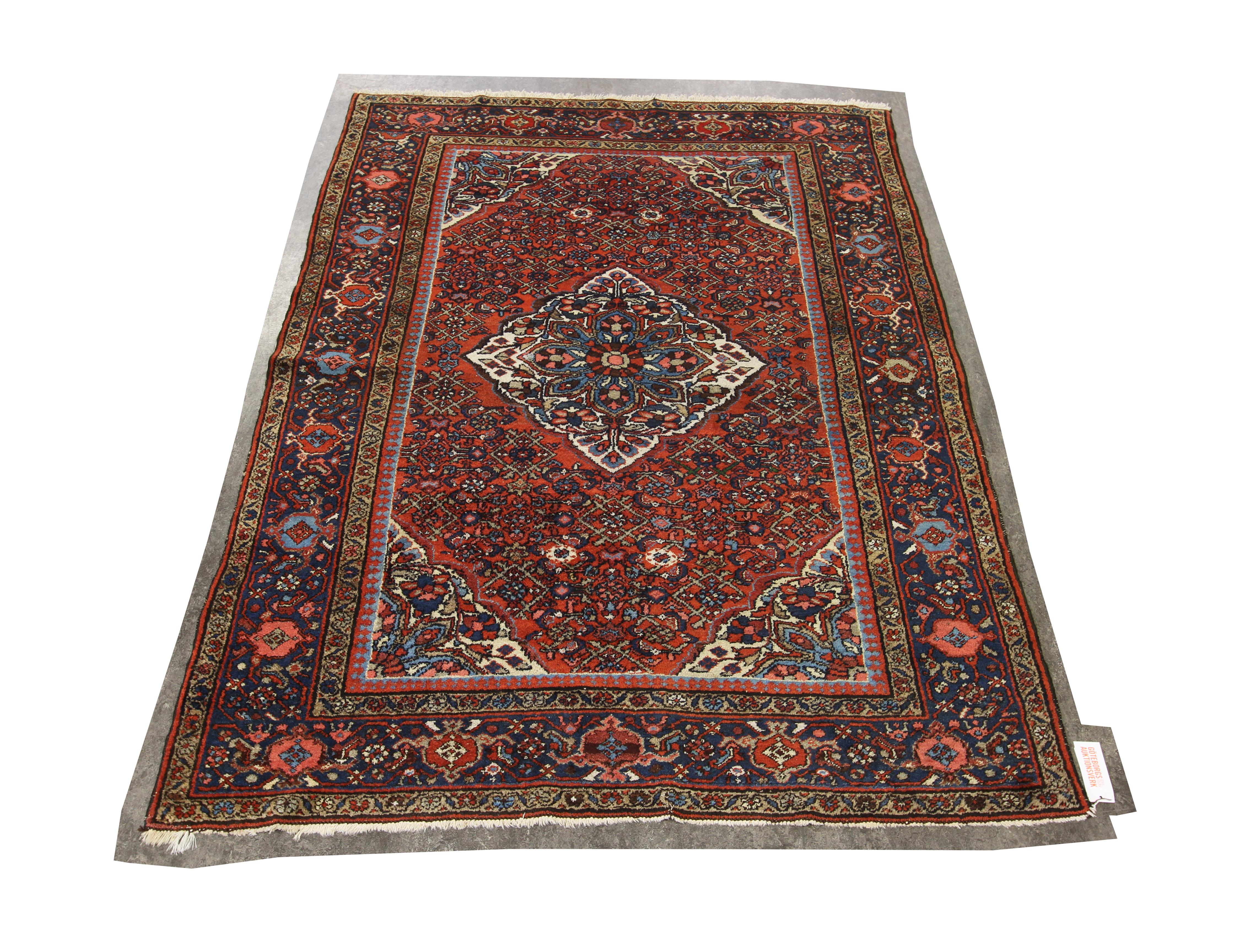 blå orientalisk matta