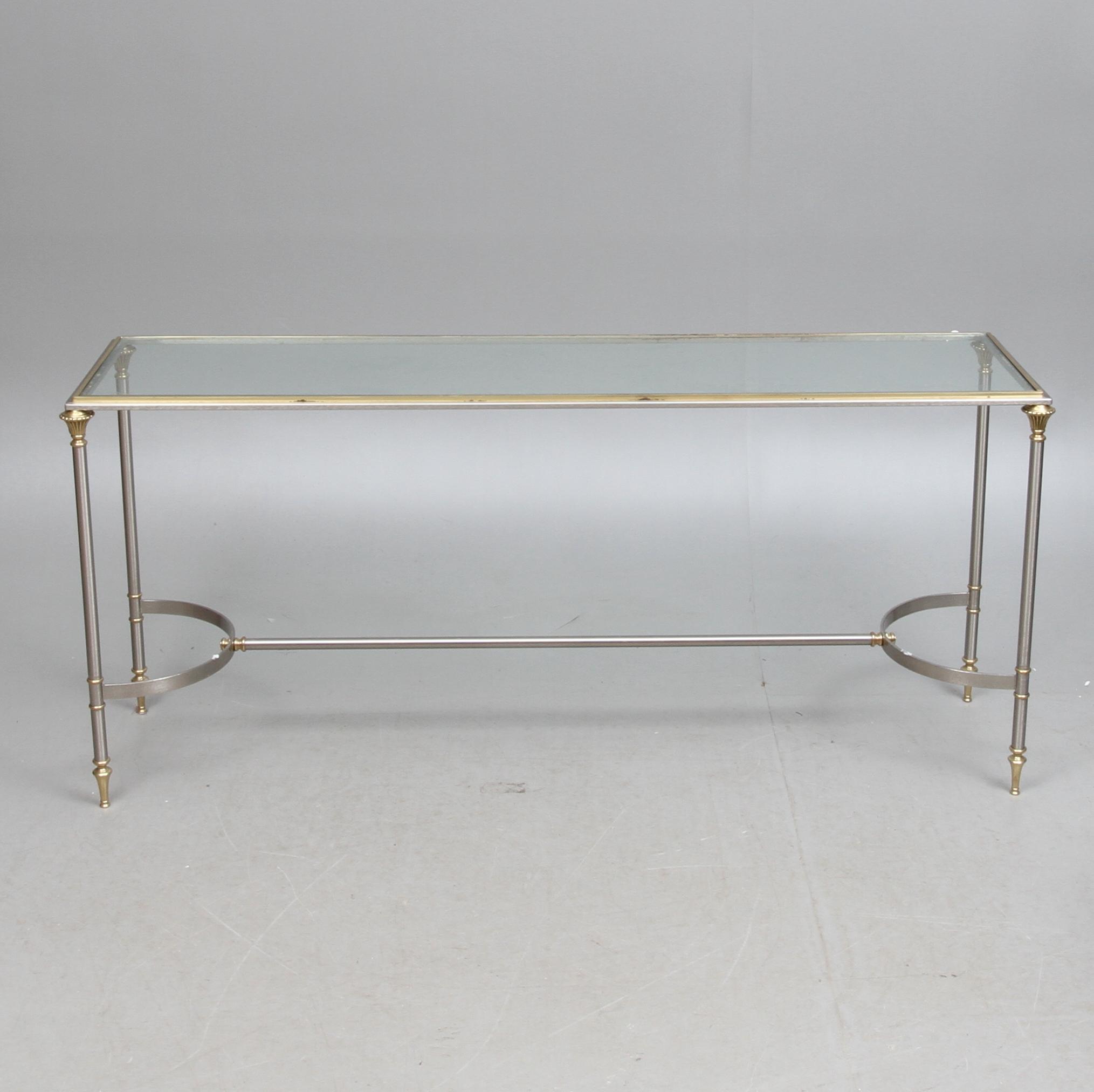 Sideboard Glas Och Metall 1900 Talets Andra Halft Furniture