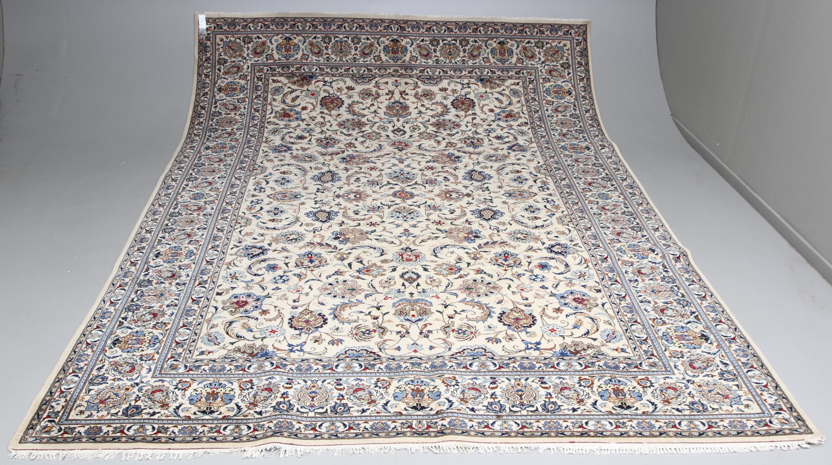 Kända MATTA, orientalisk, Ljus Keshan, 350X263 cm. Mattor & Textil LF-06