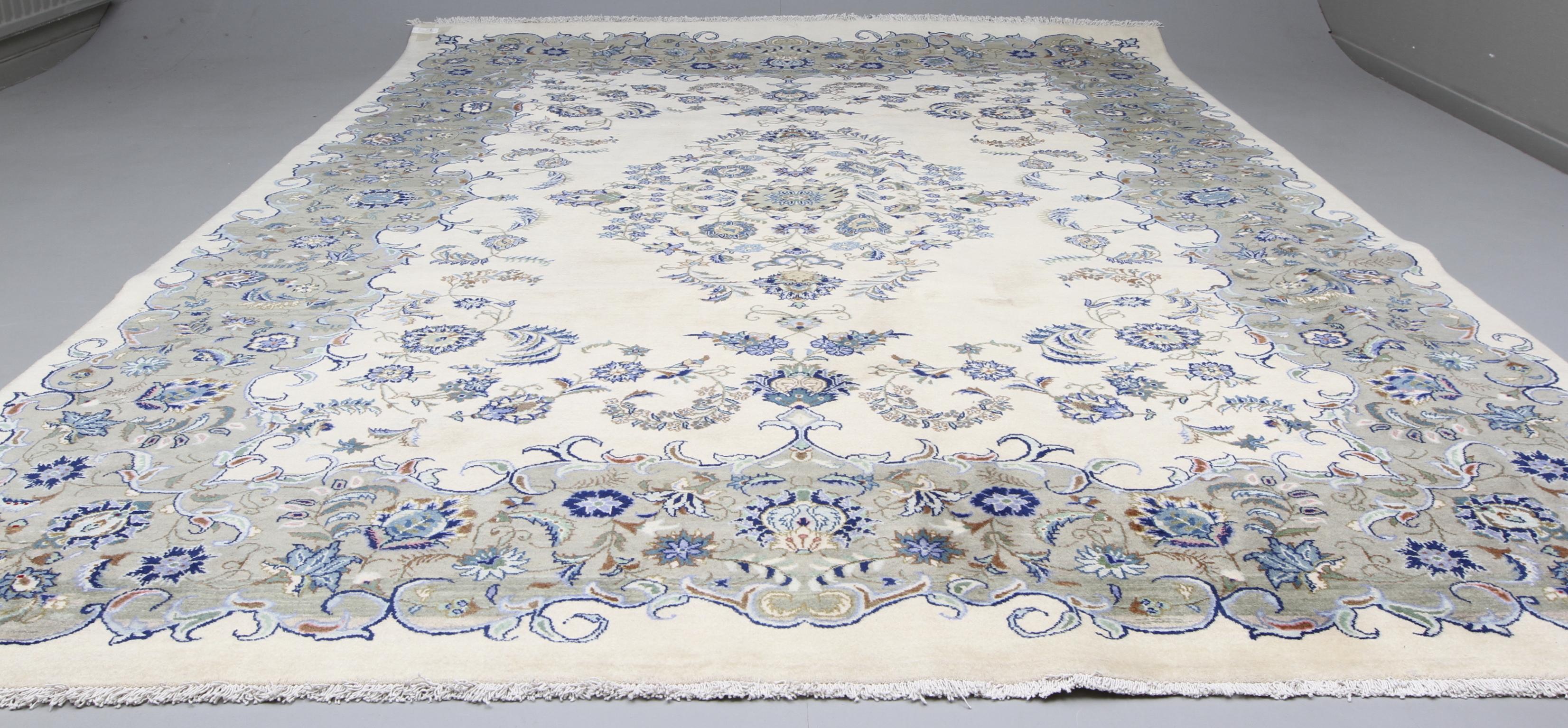 Välkända MATTA, Orientalisk, Ljus Keshan, 378 x 259 cm. Mattor & Textil NB-94