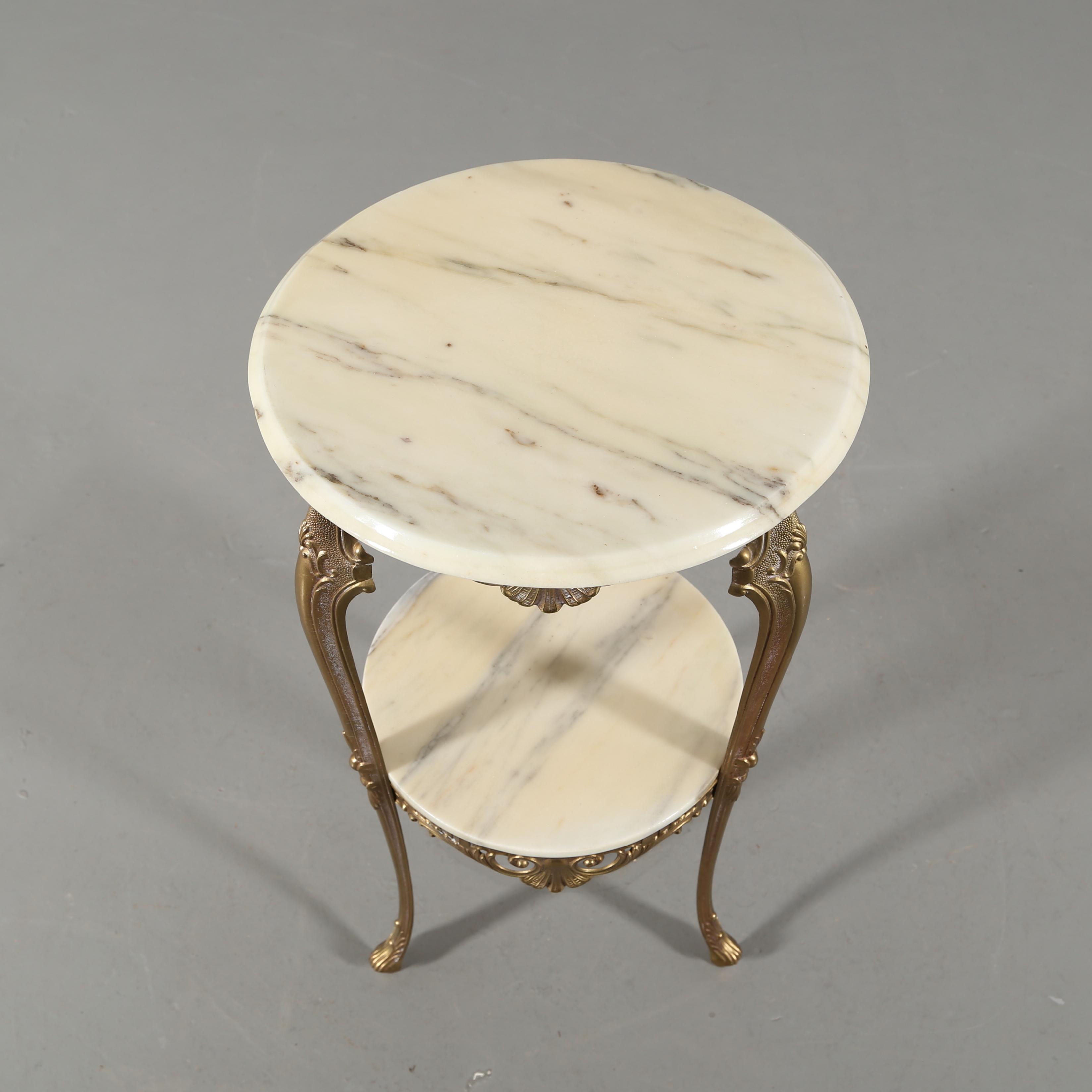 Bilder för 587524 KLäDHäNGARE och PIEDESTAL, metall och marmor, 1900 talets andra hälft