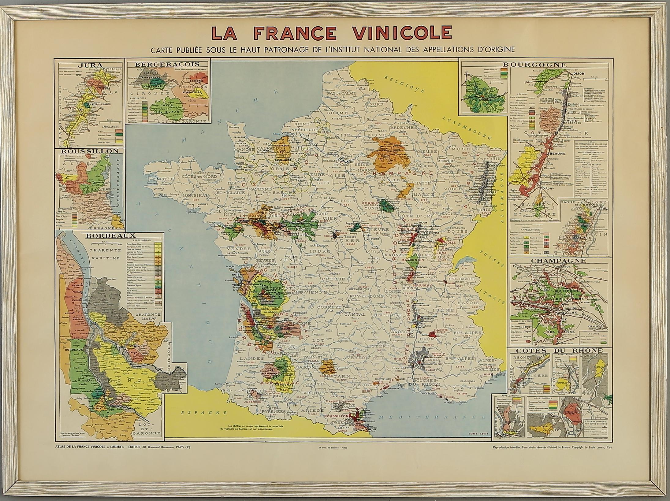 Karta Franska Vindistrikt 1900 Talets Andra Halft Art Graphic