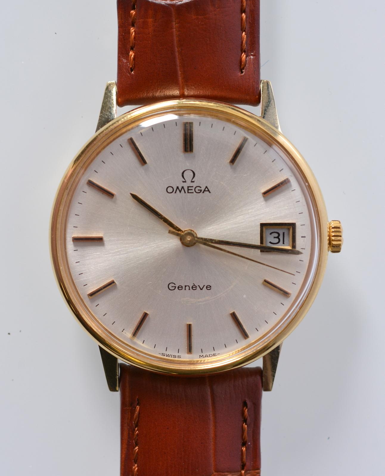 HERRARMBANDSUR, Omega Geneve, 14K  Clocks & Watches