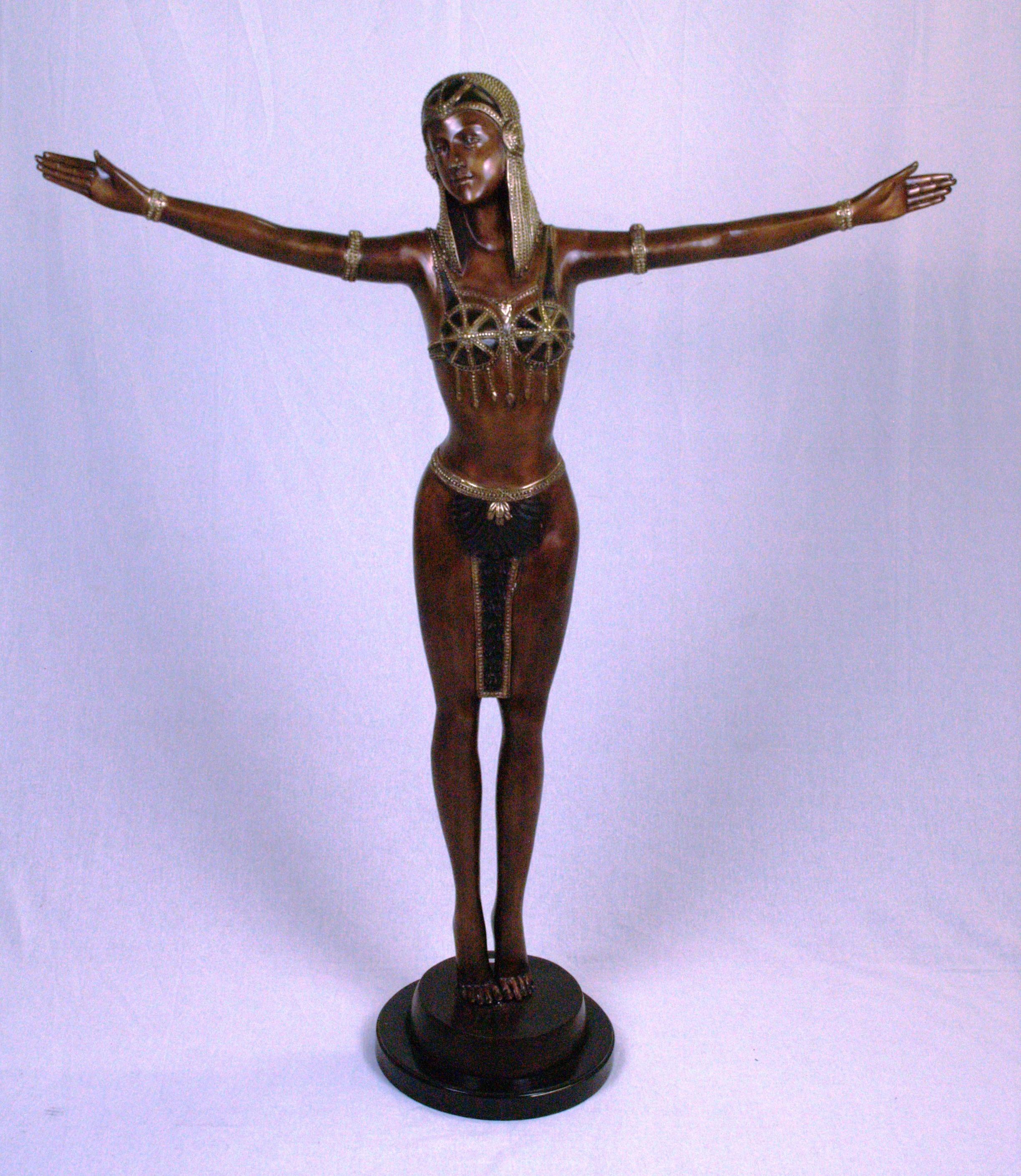 Große Bronze Figur Tänzerin Art Sculptures Auctionet