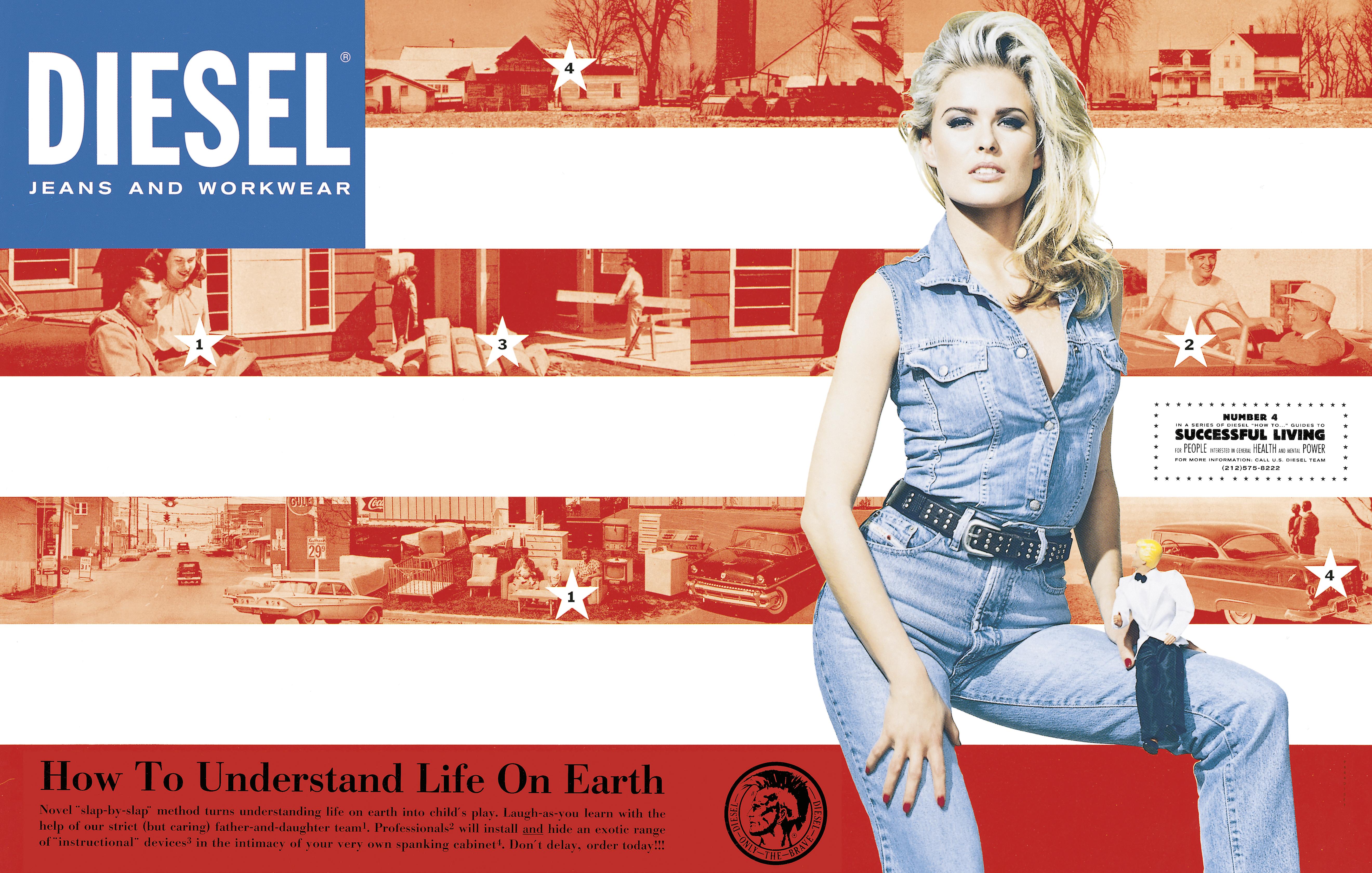 DIESEL 1991-2001  Fotoreproduktion från utställningen