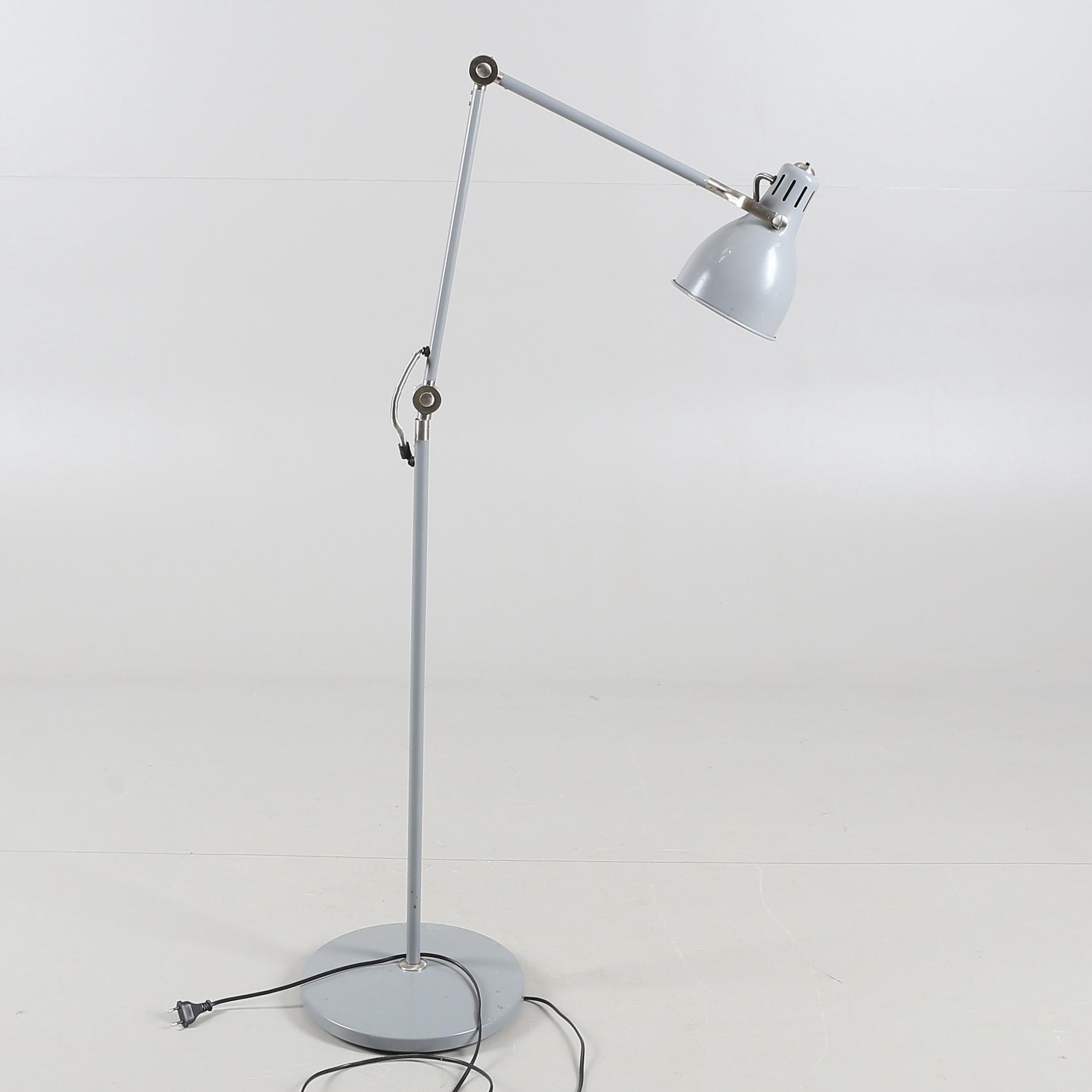 Golvlampa Stal Aluminium Arod Ikea 2000 Tal Lighting