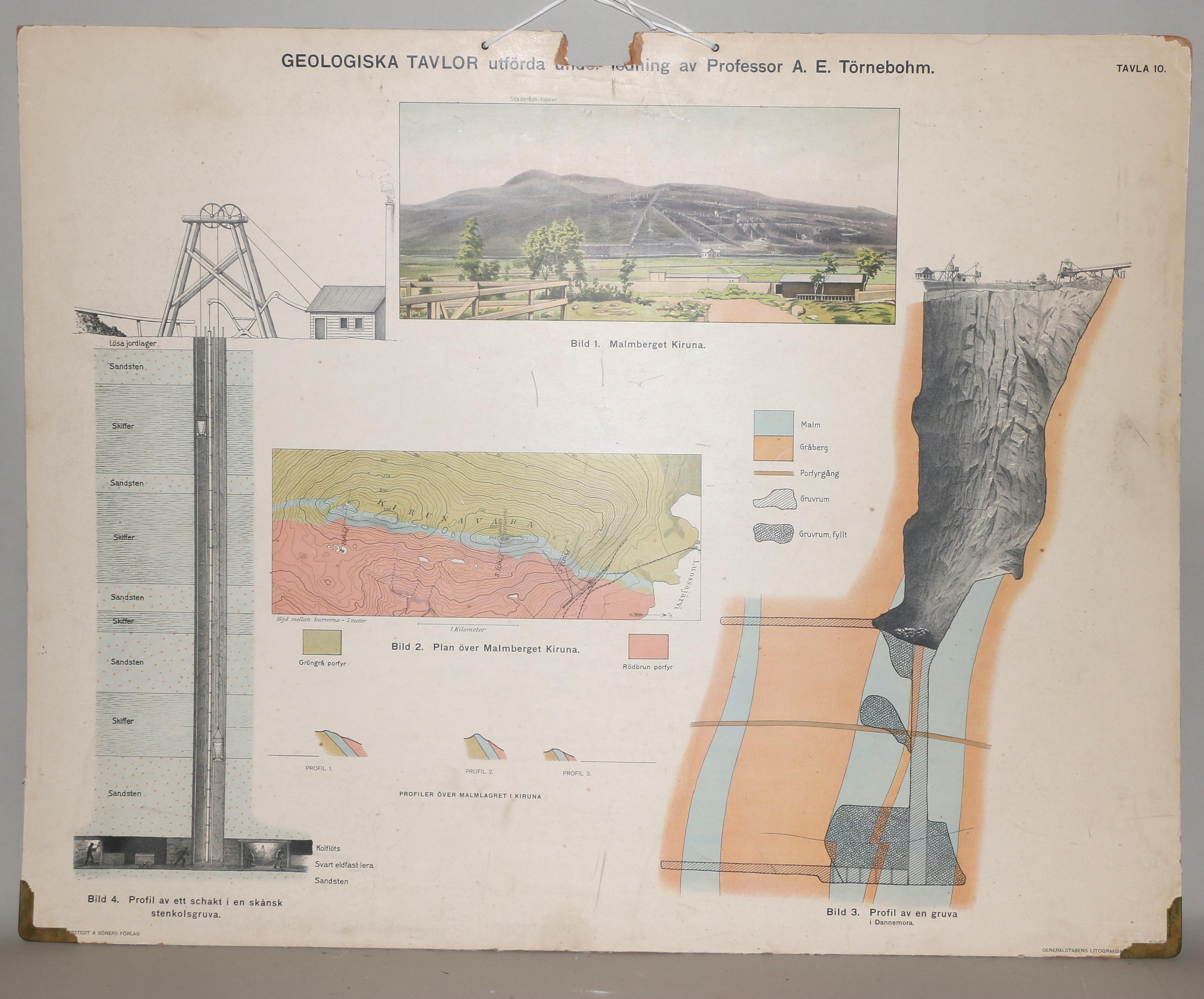 Karta Skane Tavla.Bilder For 681385 Skolplanscher 5 St Geologiska Tavlor Gen Stab