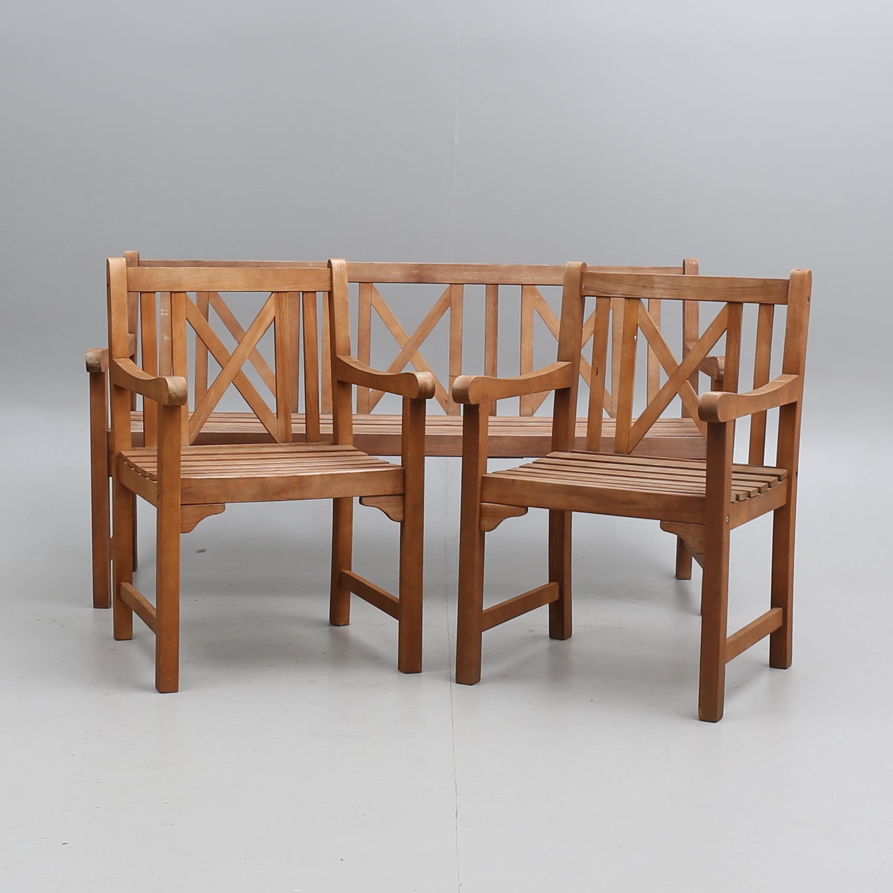 Tradgardsmobler Jutlandia Tre Delar Samtida Furniture Garden
