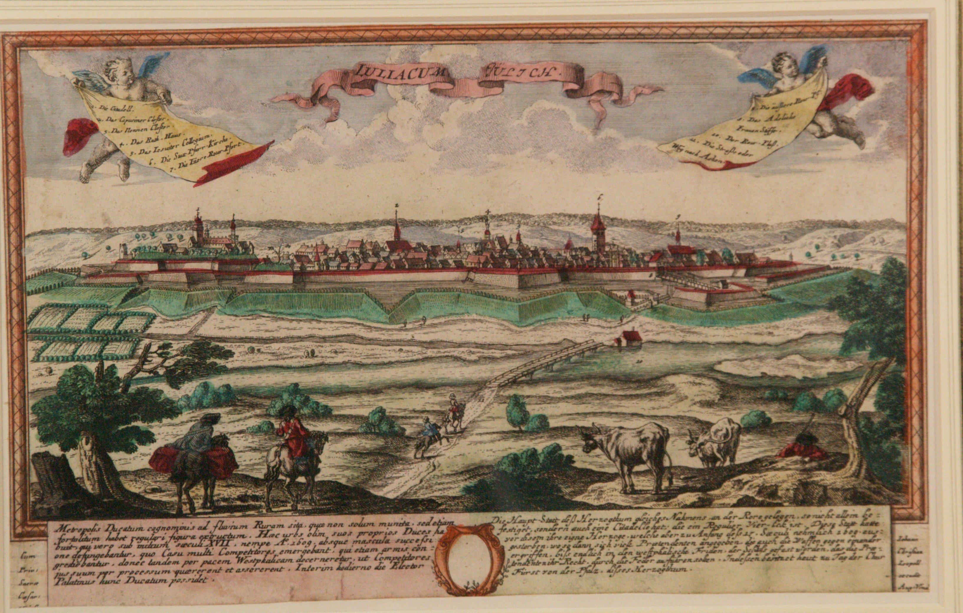 56036685d LEOPOLD, JOHANN CHRISTIAN. ''LULIACUM. JÜLICH'', Kupferstich. Art -  Paintings - Auctionet