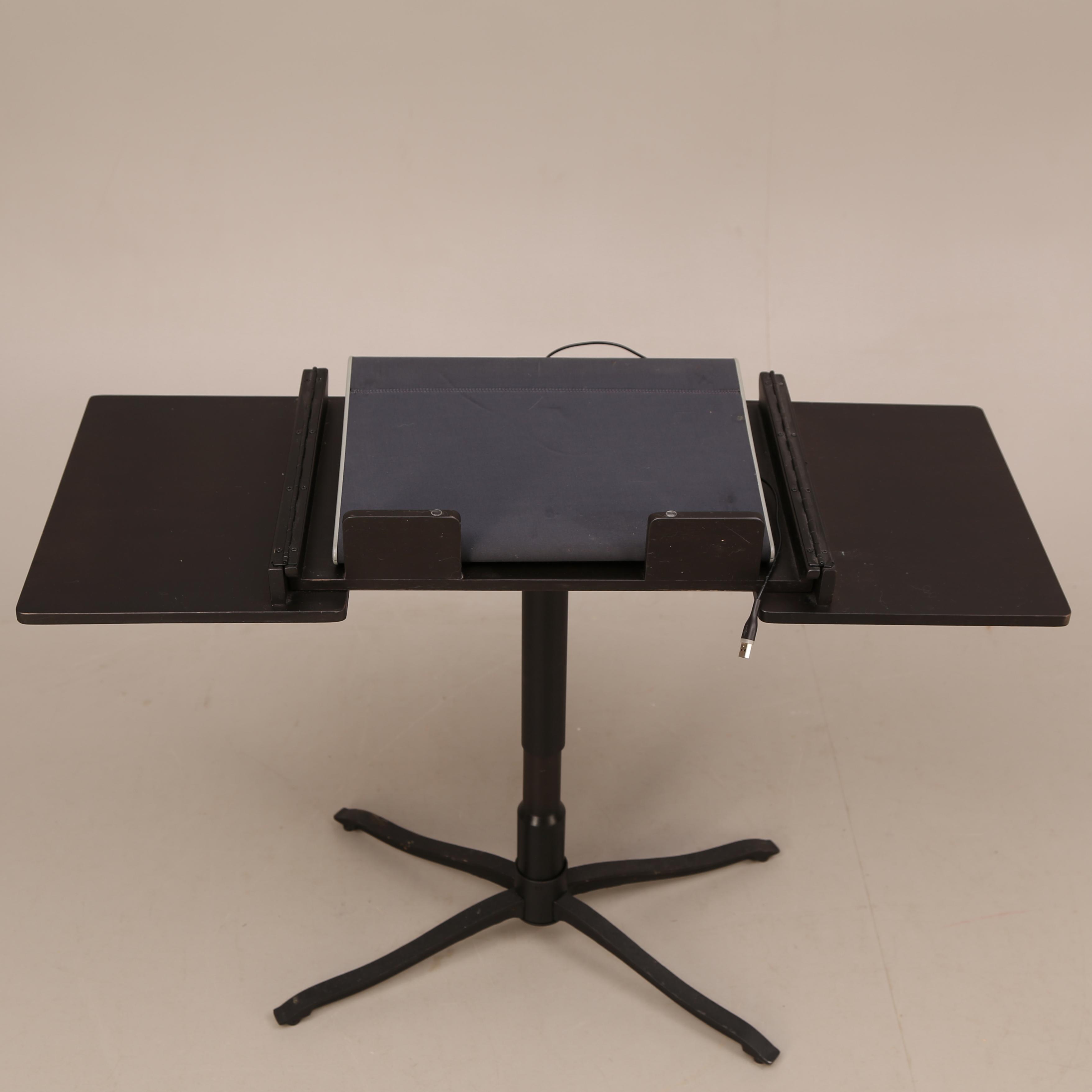 laptop-bord, trä, svart, alve - ikea, medföljer kylplatta till