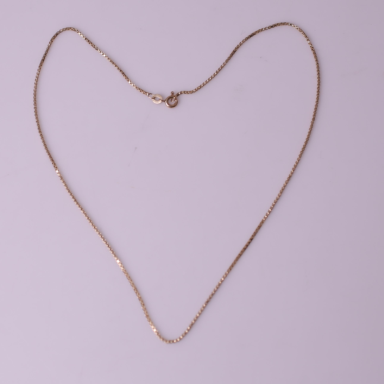Splinternye HALSKEDJA, guld 18k (750), Balestra, vikt = 4,8 gram. Jewellery LZ-12