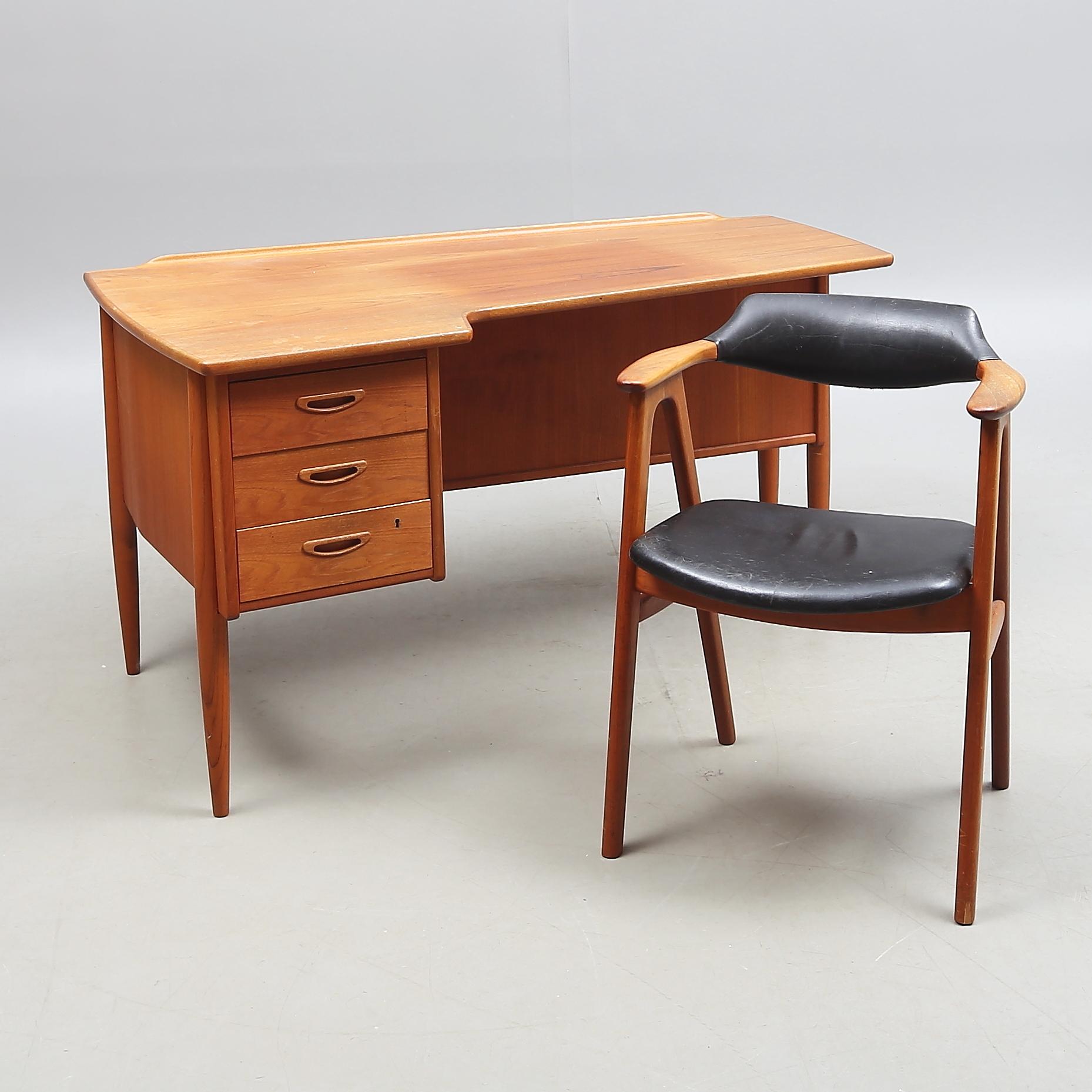 SKRIVBORD, teak, modell A10, Lelångs möbelfabrik, 195060