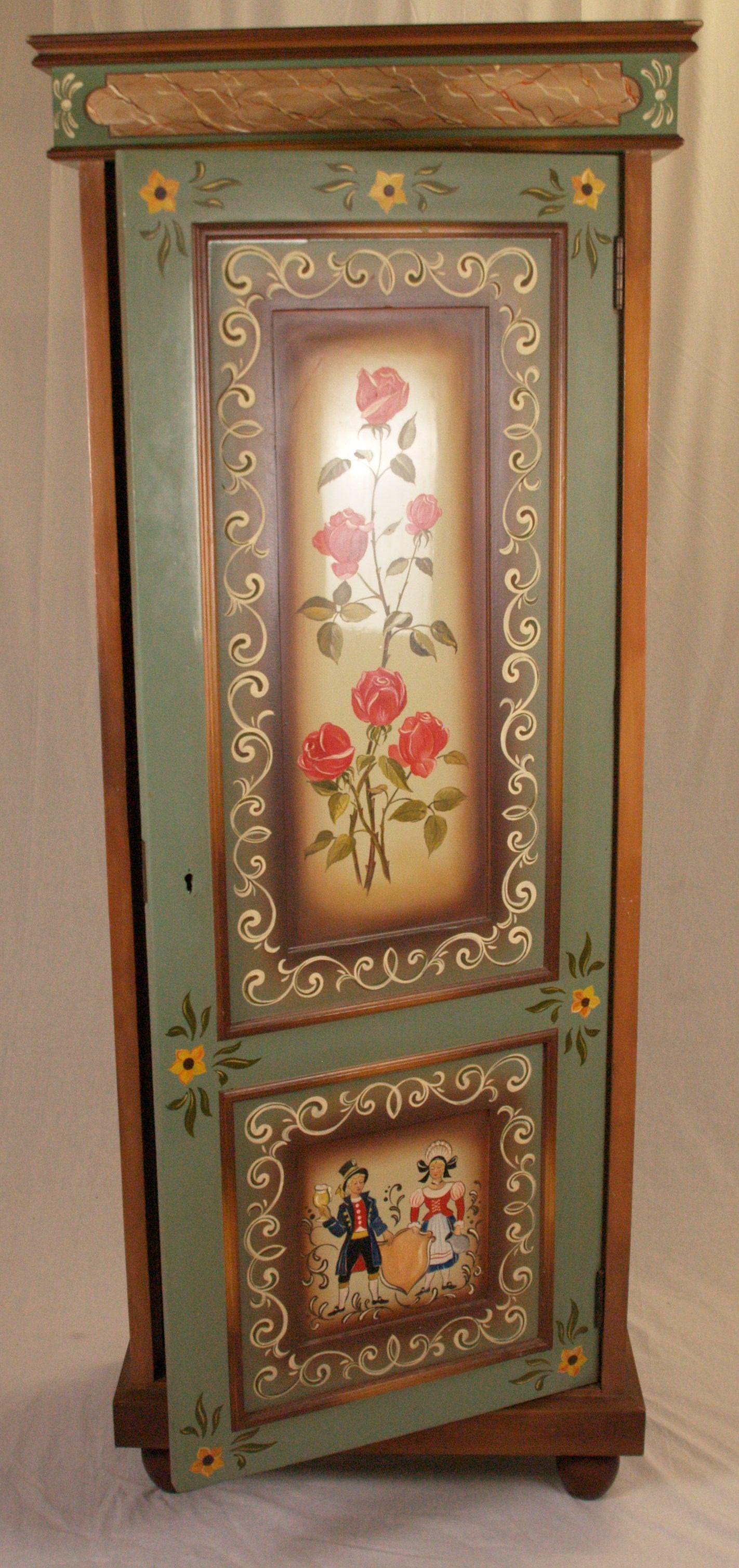 bauernschrank - bemalung mit floralen mustern. furniture - cupboards