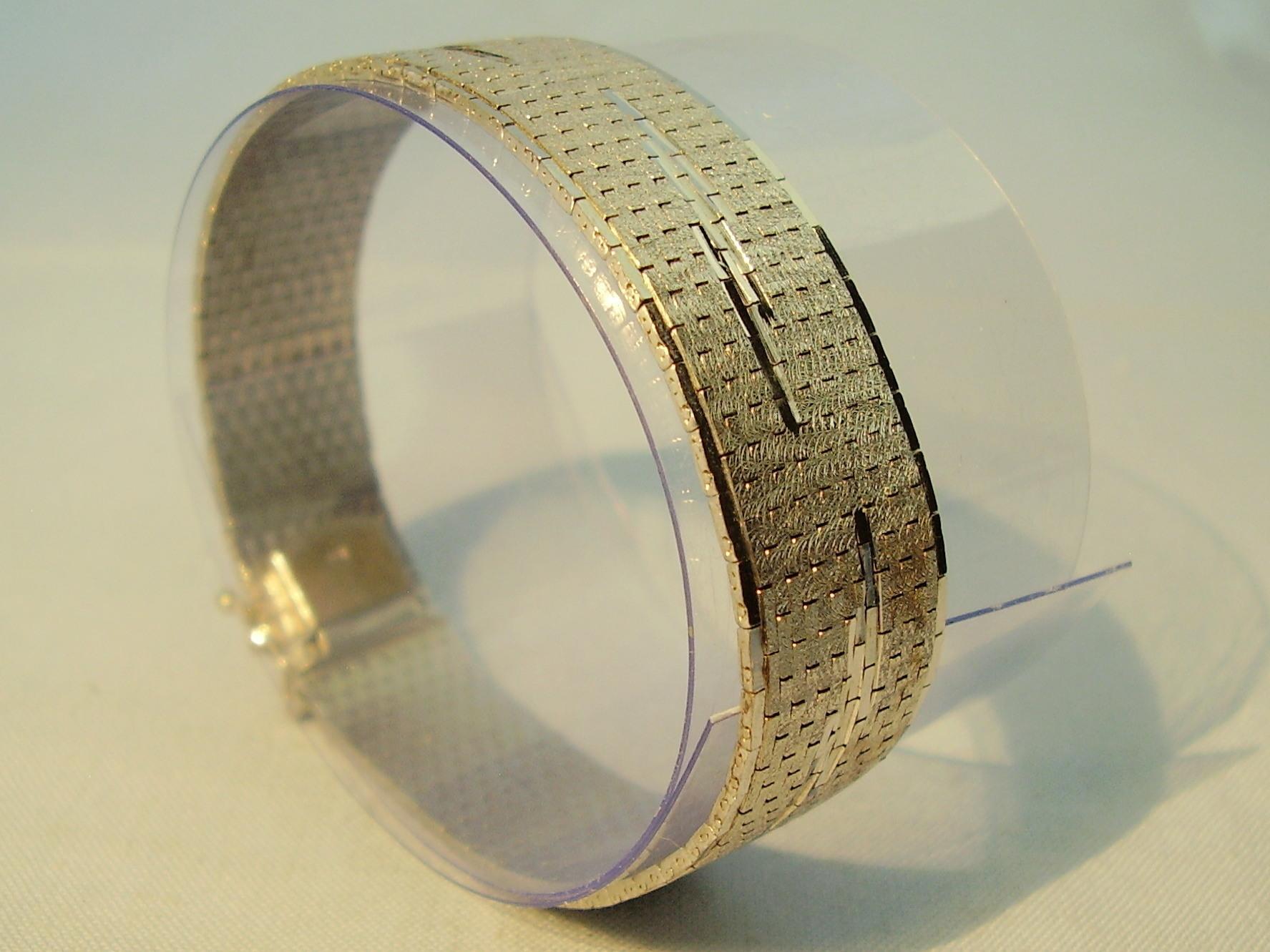 Art Deco Armband Silber 835 Weißgold Optik Schmuck Und Edelsteine