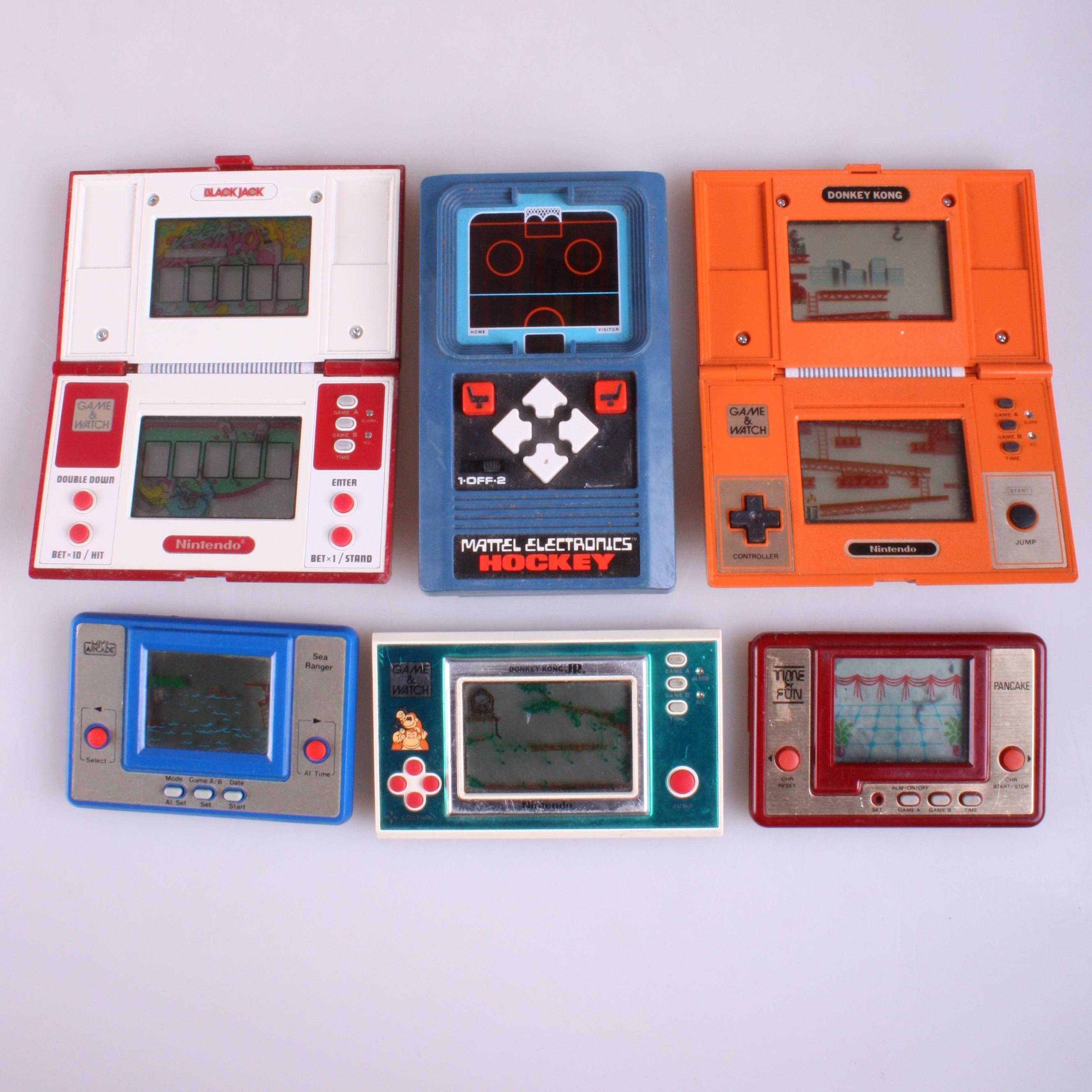 Wonderbaar SPEL, vintage spel, 6 st, bla. Donkey Kong & Sea ranger. Toys KY-17