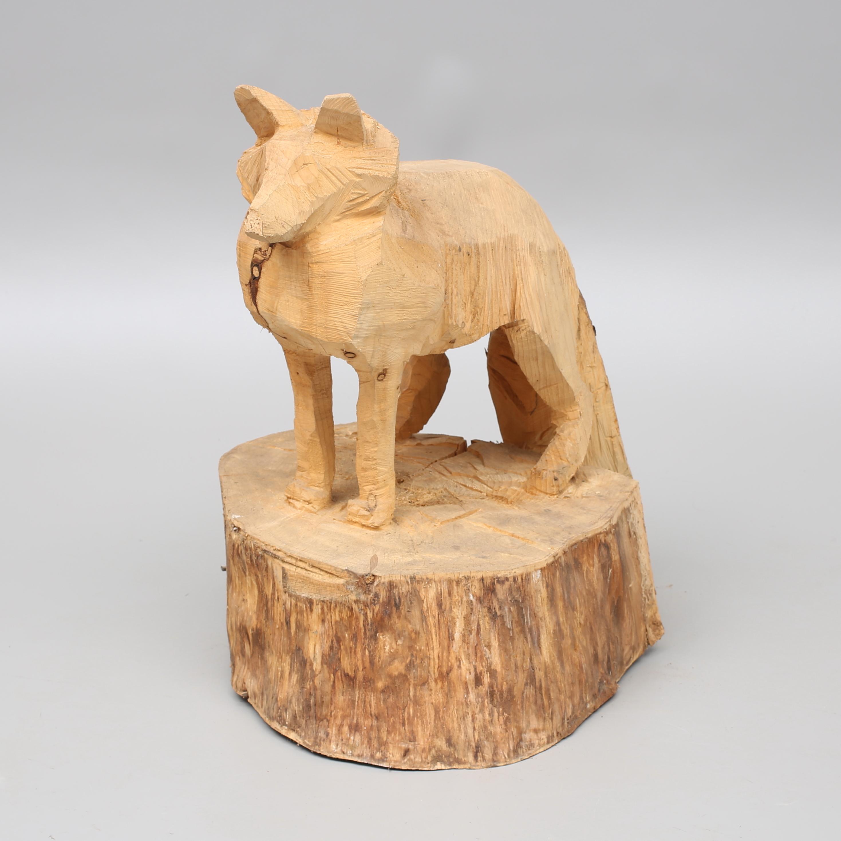 Karl Olof Gustafsson Sculpture Wood Fox Height 85 Cm Art Sculptures Auctionet