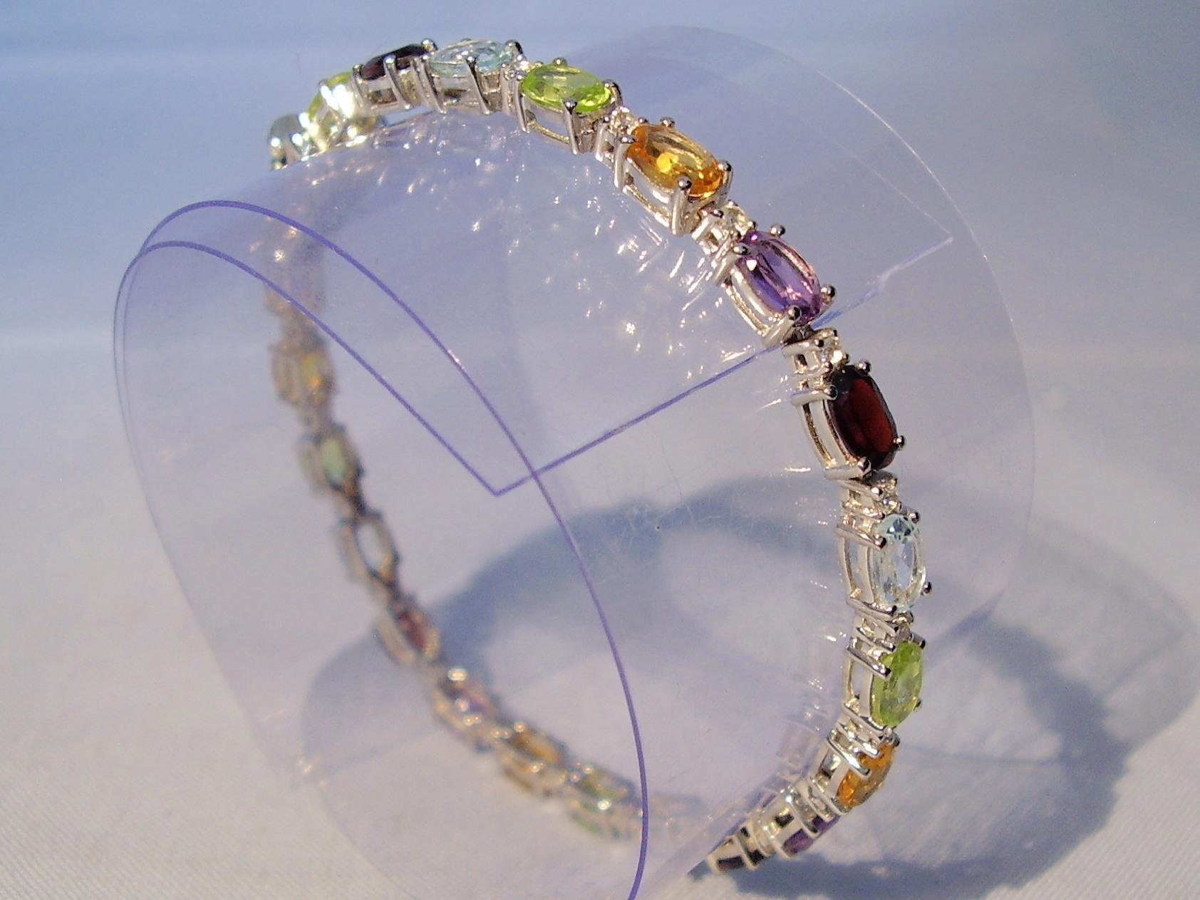 2 x 2 cm, KL-6 Multicolor edelstein Armband