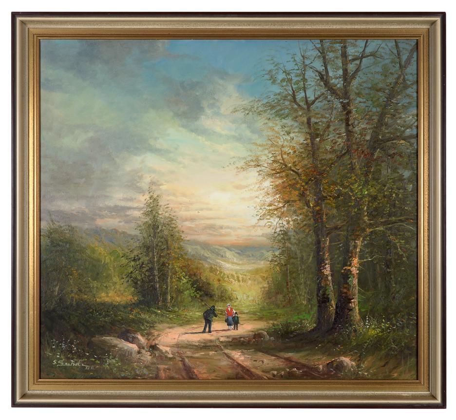 GÜNTHER SEEKATZ. Idealisierte Landschaft. Art - Paintings - Auctionet