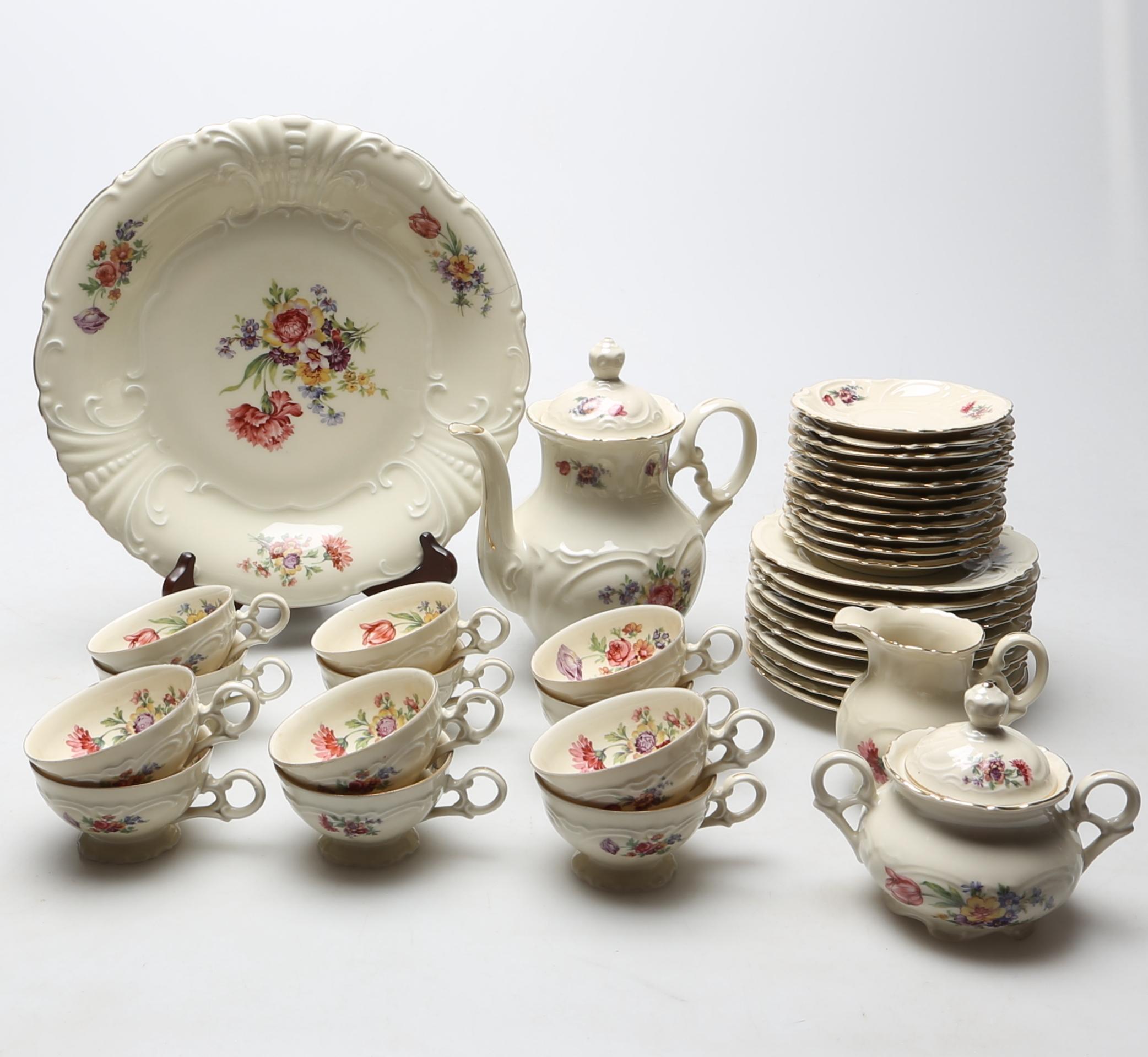 f4448202 KAFFESERVIS, 37 delar, porslin, Schwarzenhammer, Bavaria, Tyskland.  Ceramics & Porcelain - European - Auctionet