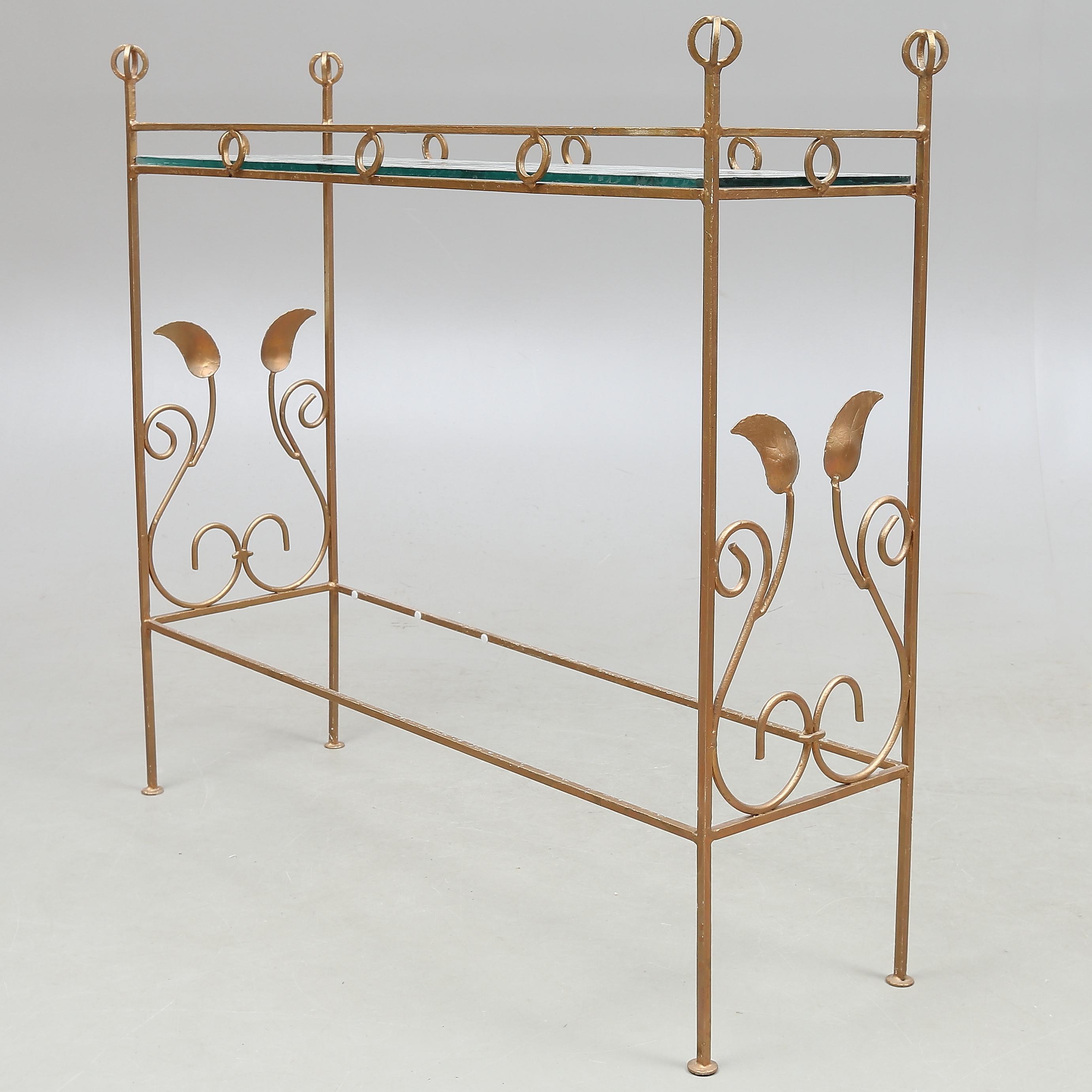 Blombord Sideboard Metall Och Glas 1900 Talets Mitt Furniture