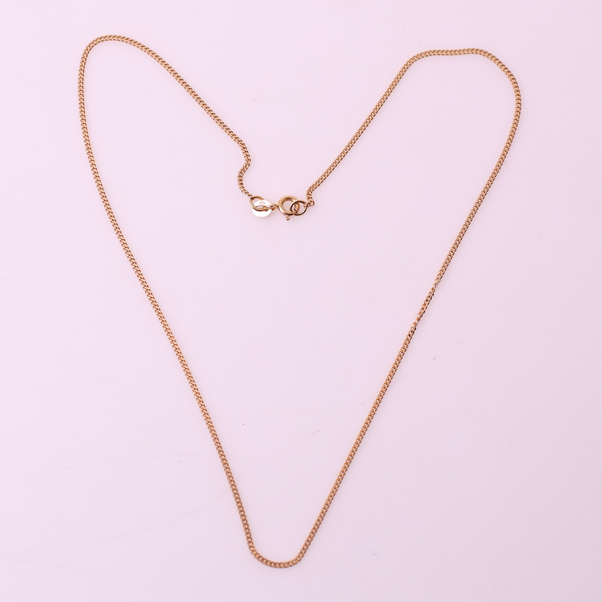 Dejlig HALSKEDJA, guld 18k (750), GFAB, vikt= 3,3 gram. Jewellery GV-29