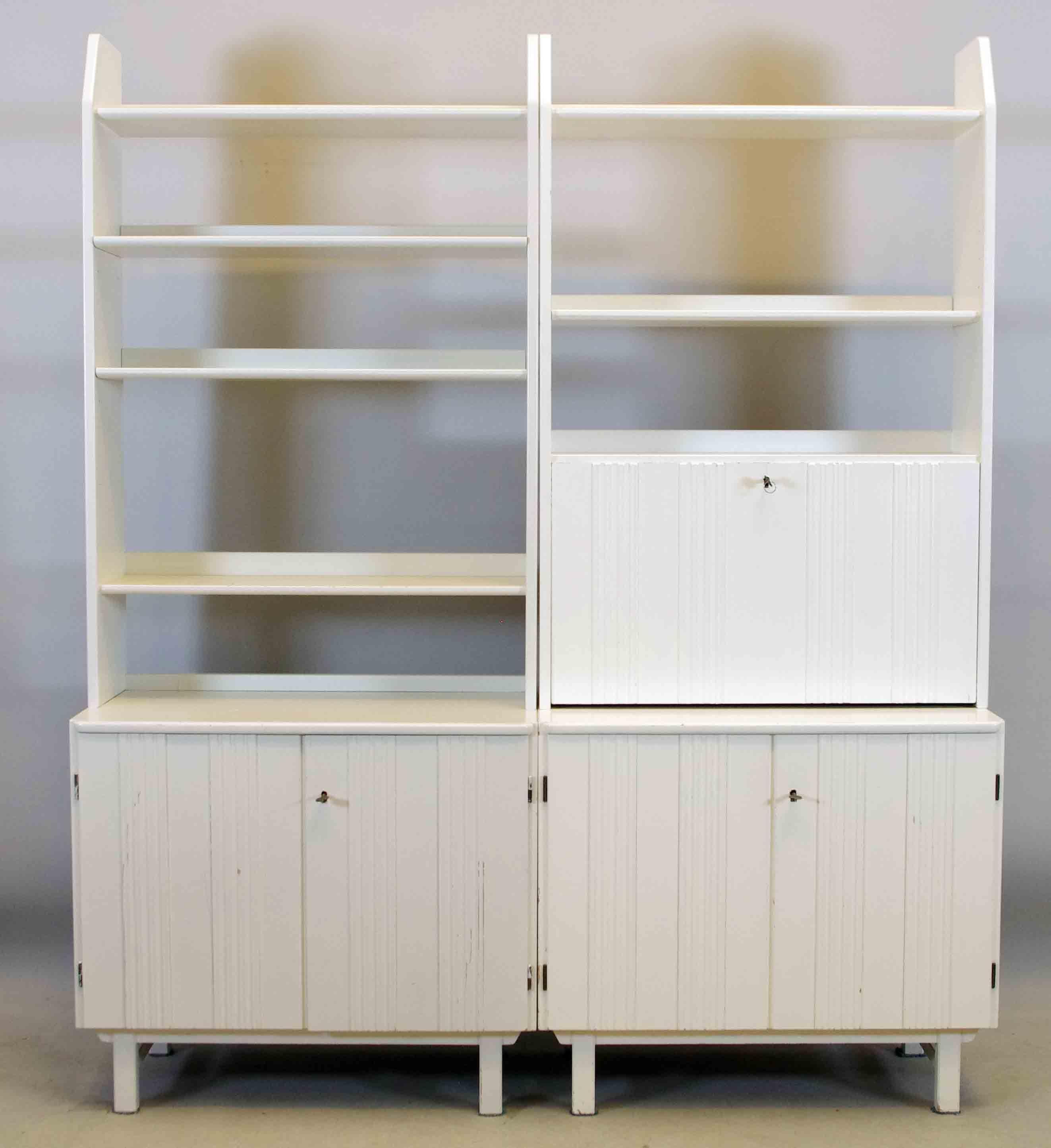 """Bilder för 76061 BOKHYLLA,""""Visingsö"""", design Carl Malmsten, vitmålad Auctionet"""