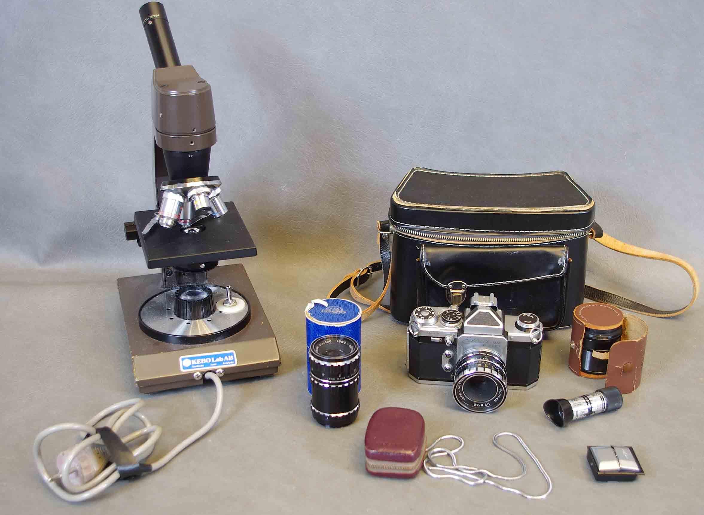 Mikroskop kamera med tillbehÖr. other modern consumer electronics