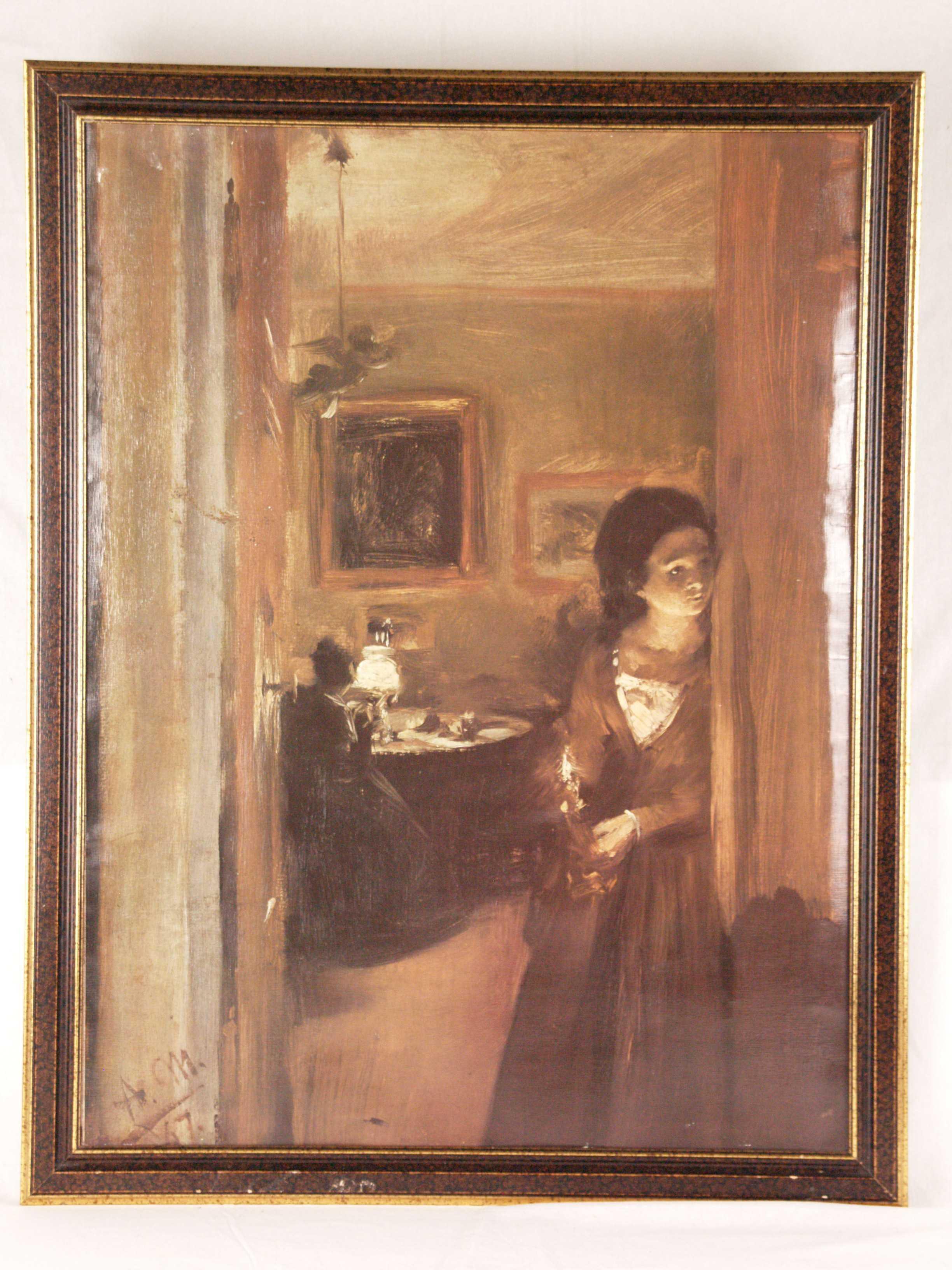 Blick Ins Wohnzimmer Art Graphic Auctionet