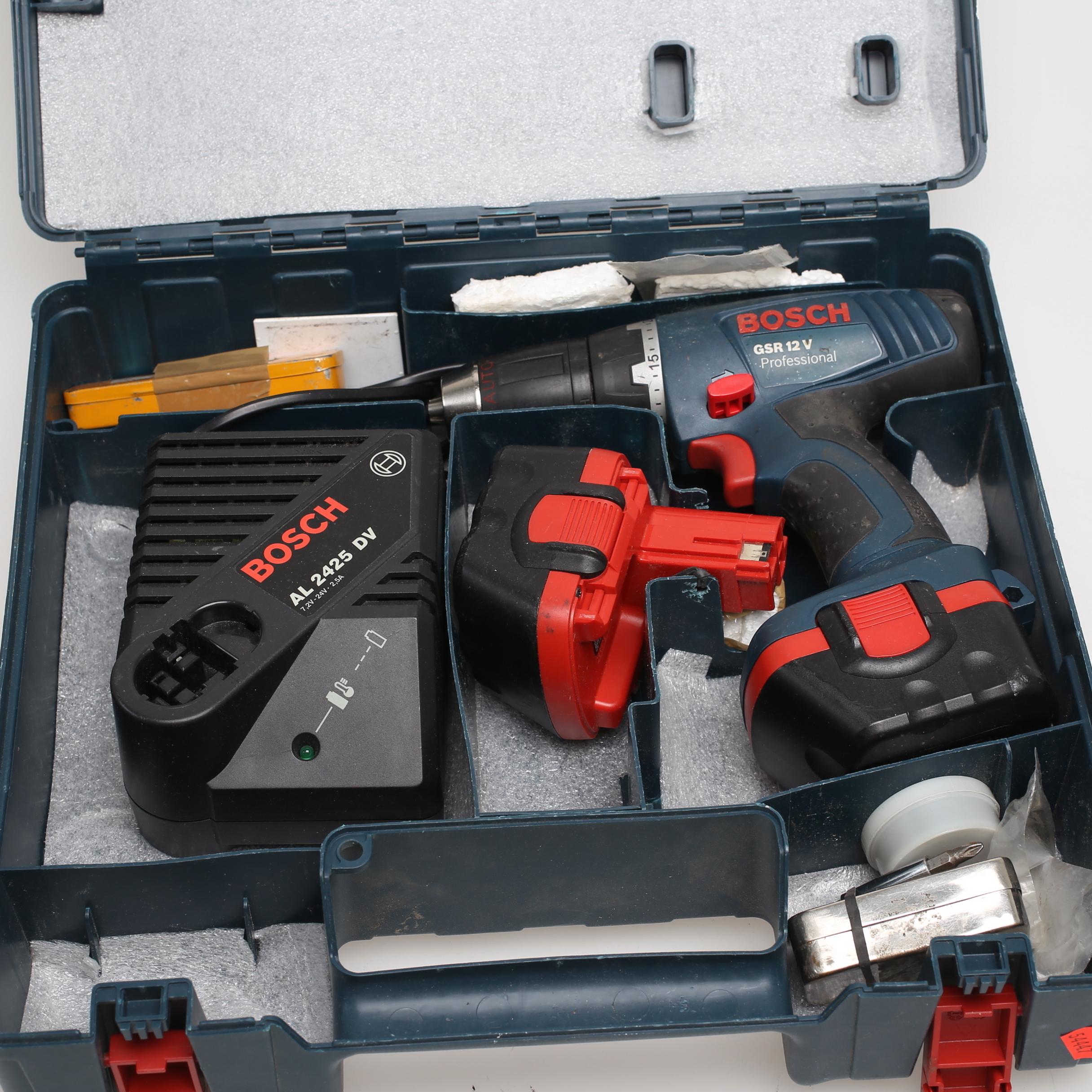 Nya Images for 854654. SKRUVDRAGARE, Bosch GSR 12 V, extra batteri TQ-32