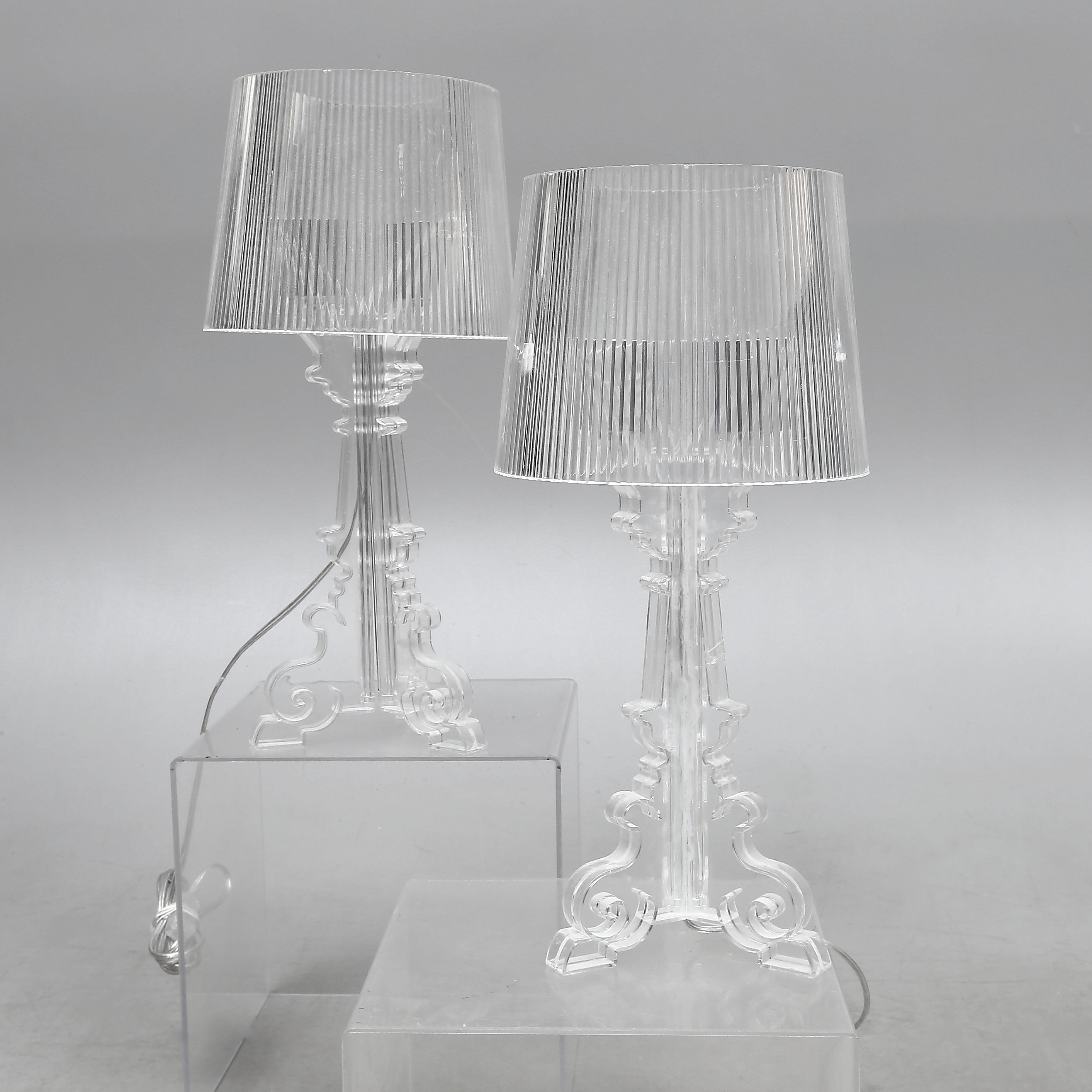 TABLES, a pair, plastic,