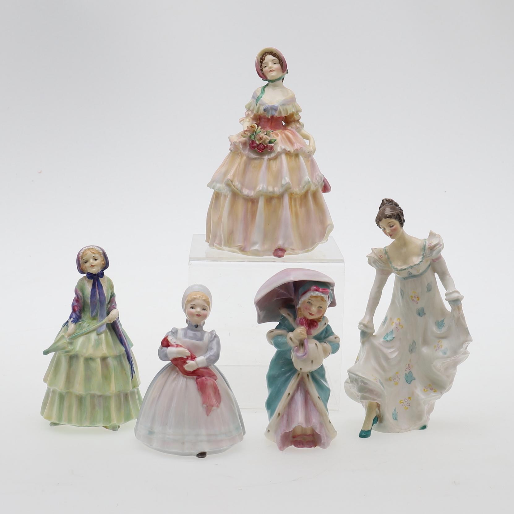 AN ASSORTMENT OF FIVE ROYAL DOULTON FIGURES  Ceramics & Porcelain