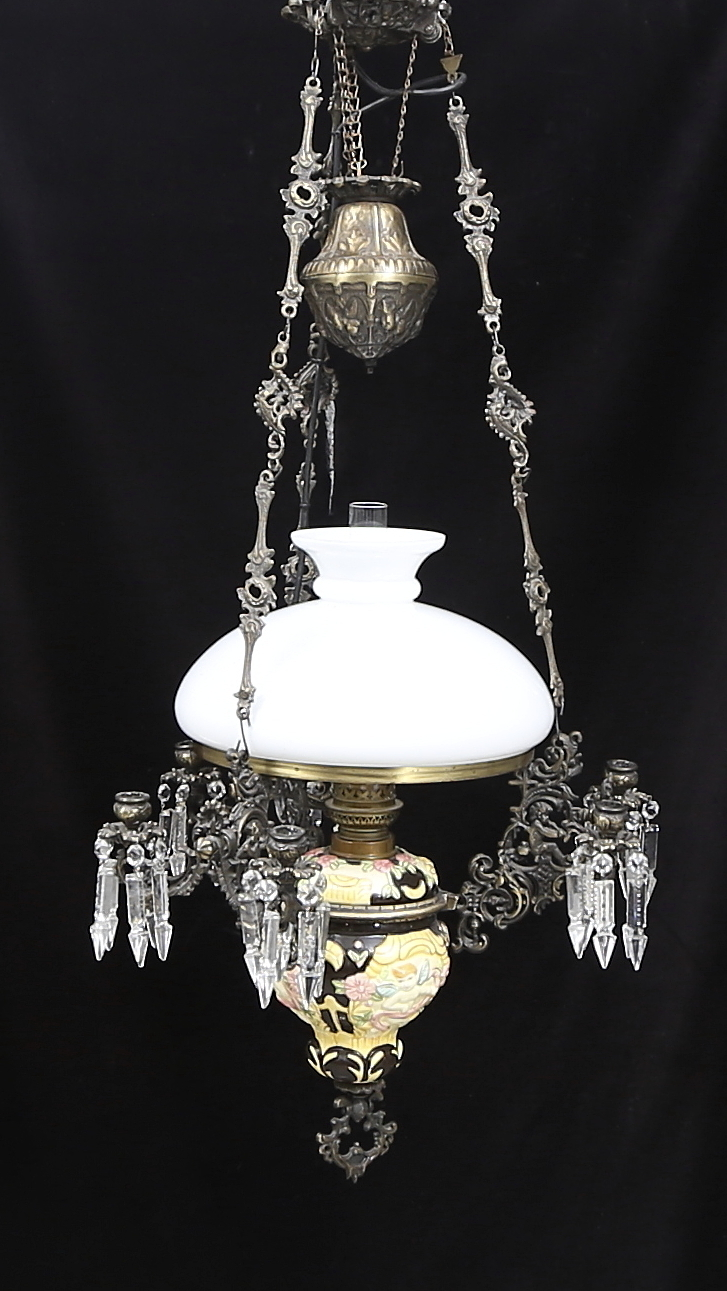 TAKLAMPA, metallglaskupa, 1950 talet. Belysning & Lampor