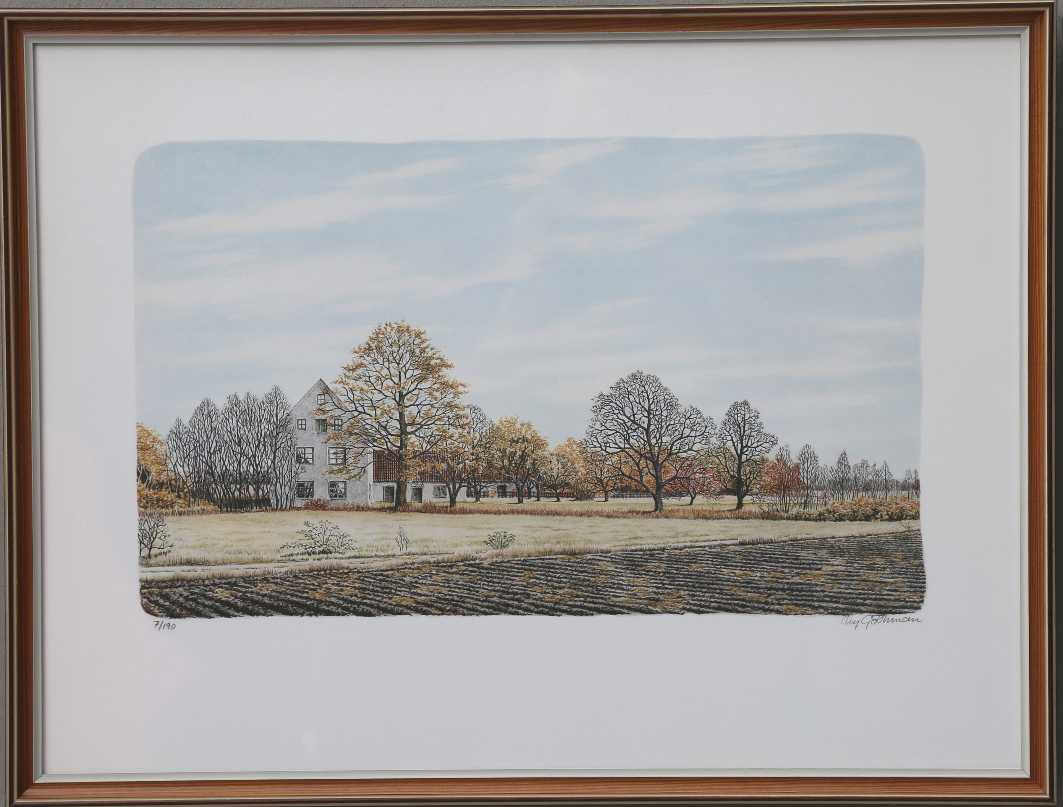 Ulf Gothman Color Lithograph Signed And Numbered 7 190 Art Graphic Auctionet