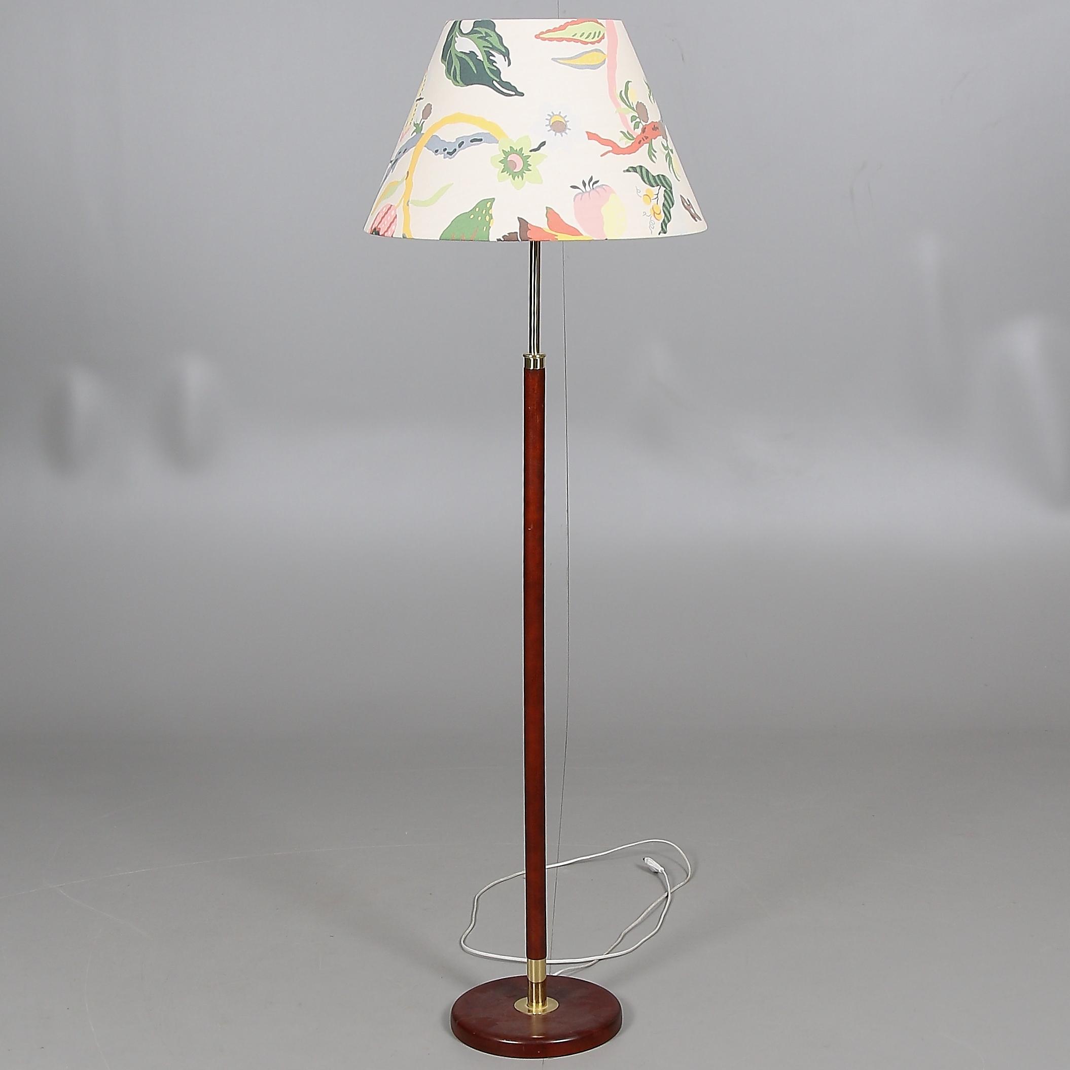 FLOOR LAMP, wood, brass,
