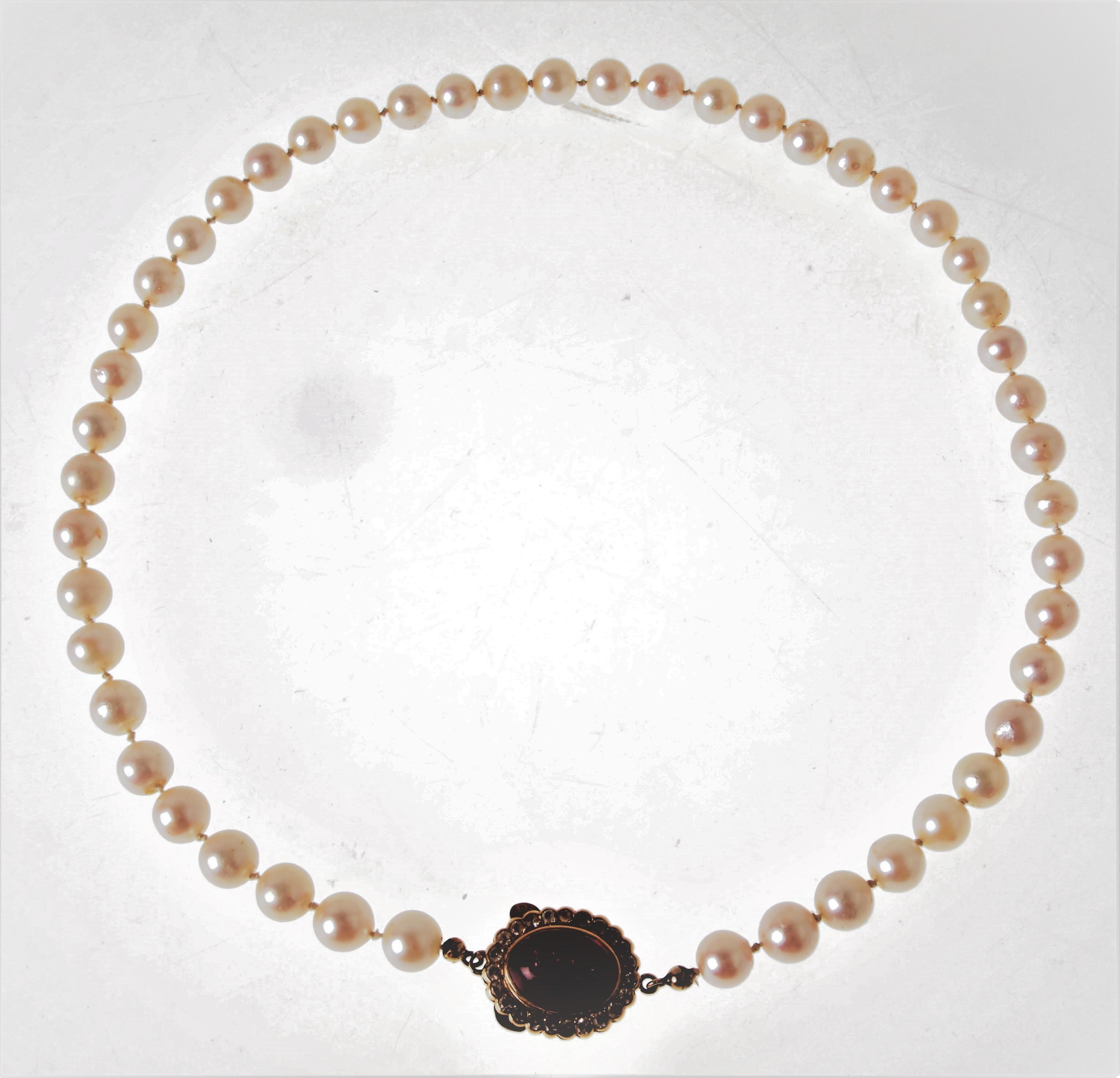 HALSBAND ODLADE PÄRLOR LÅS 18 K GULD. Jewellery   Gemstones - Necklace -  Auctionet cb0b73c920980