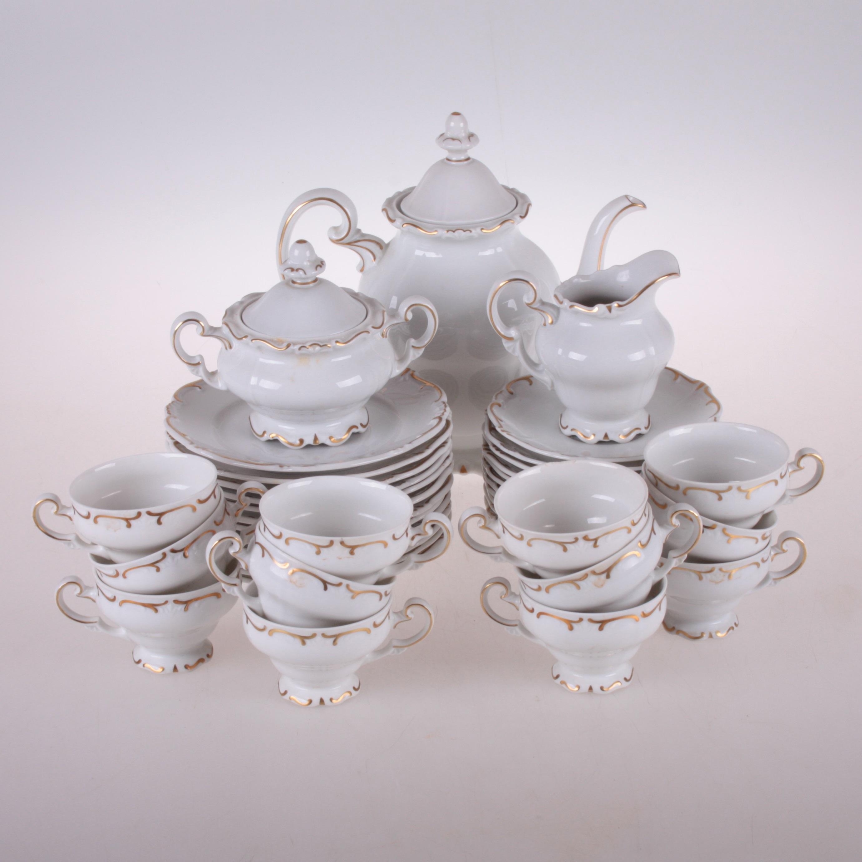 0a74cb5d KAFFESERVIS, 40 delar, Weimar, Tyskland. Ceramics & Porcelain - European -  Auctionet