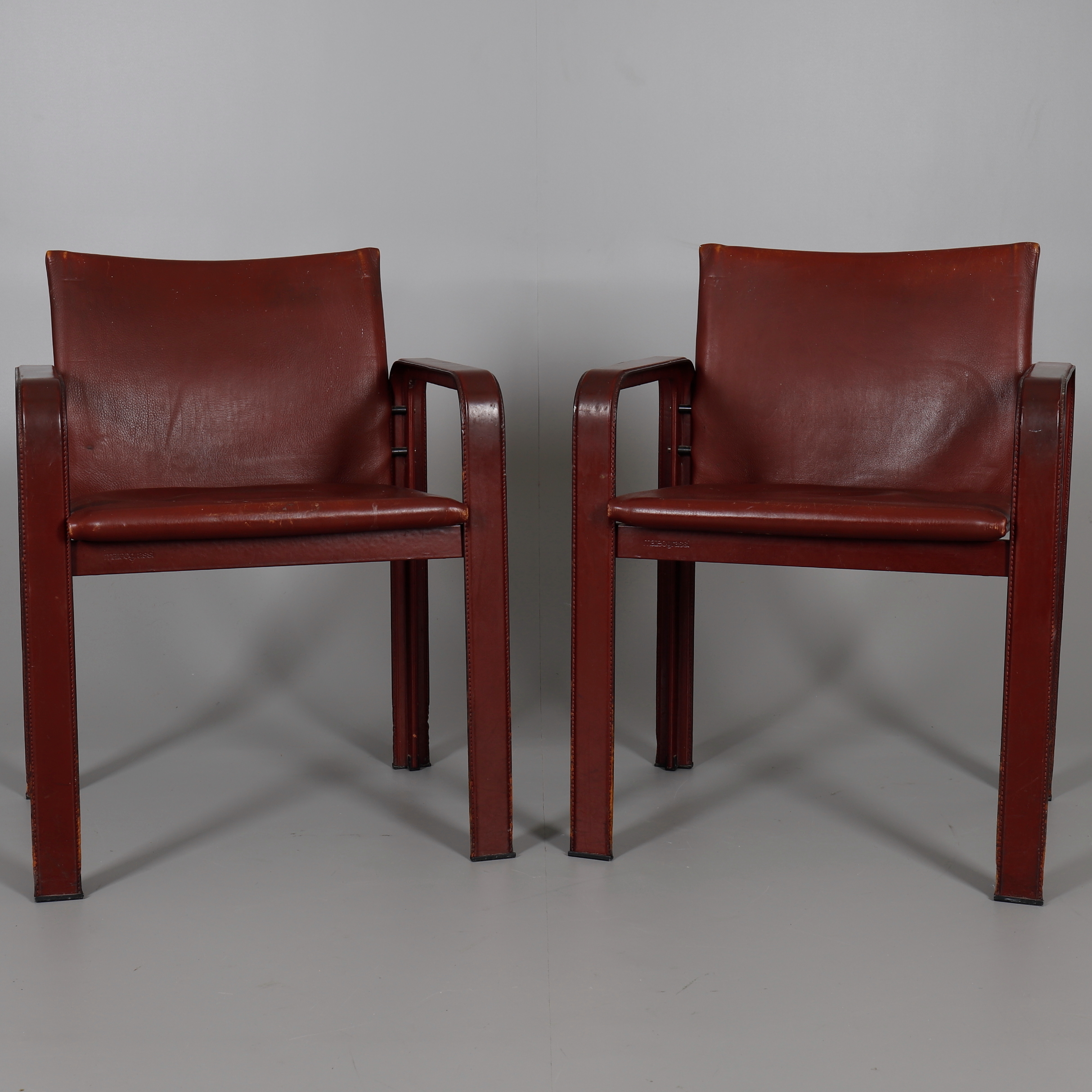 MATTEO GRASSI, A PAIR OF LEATHER ARMCHAIRS. Furniture   Armchairs U0026 Chairs    Auctionet