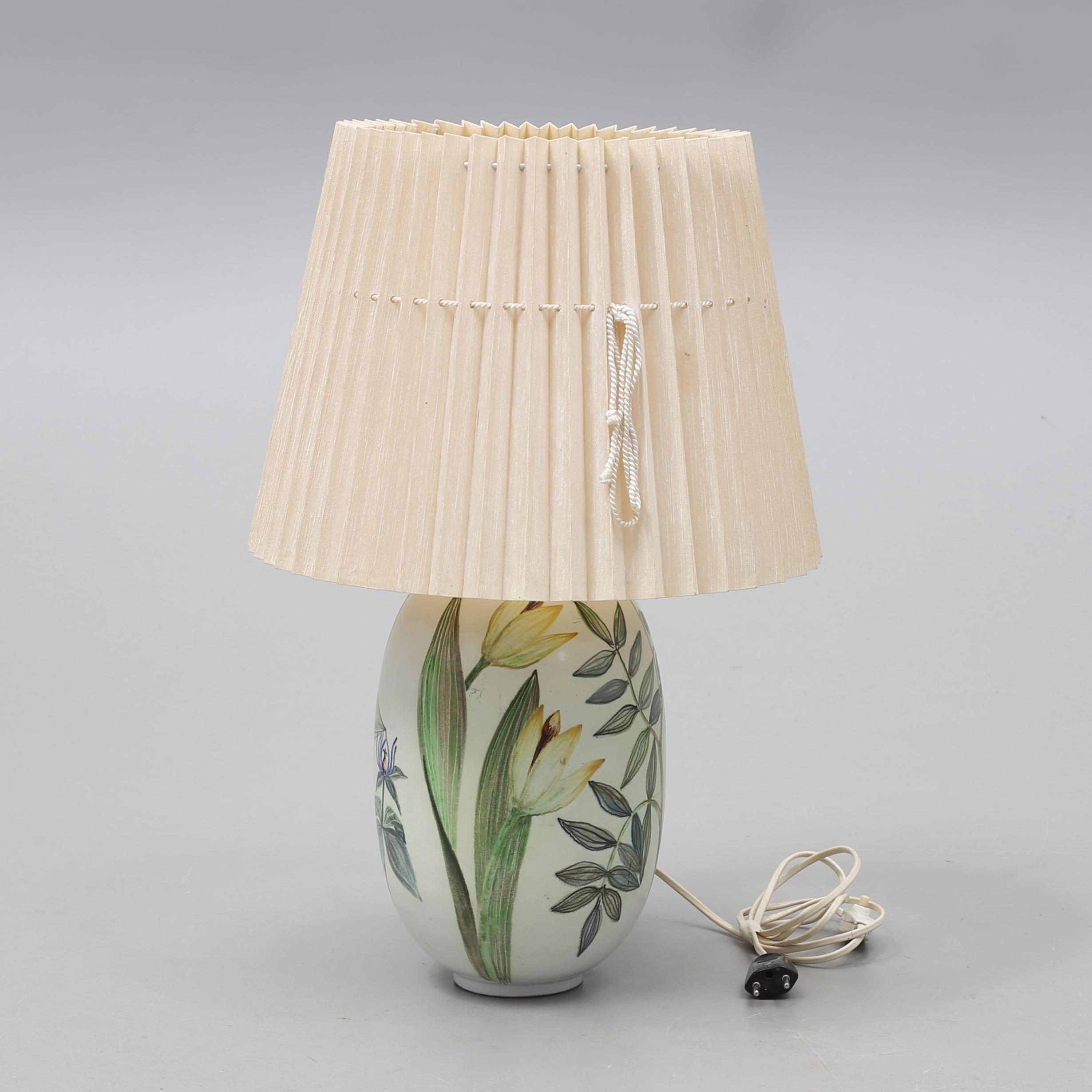 CARL HARRY STÅLHANE. Table lamp, ceramics, Artium, Rörstrand